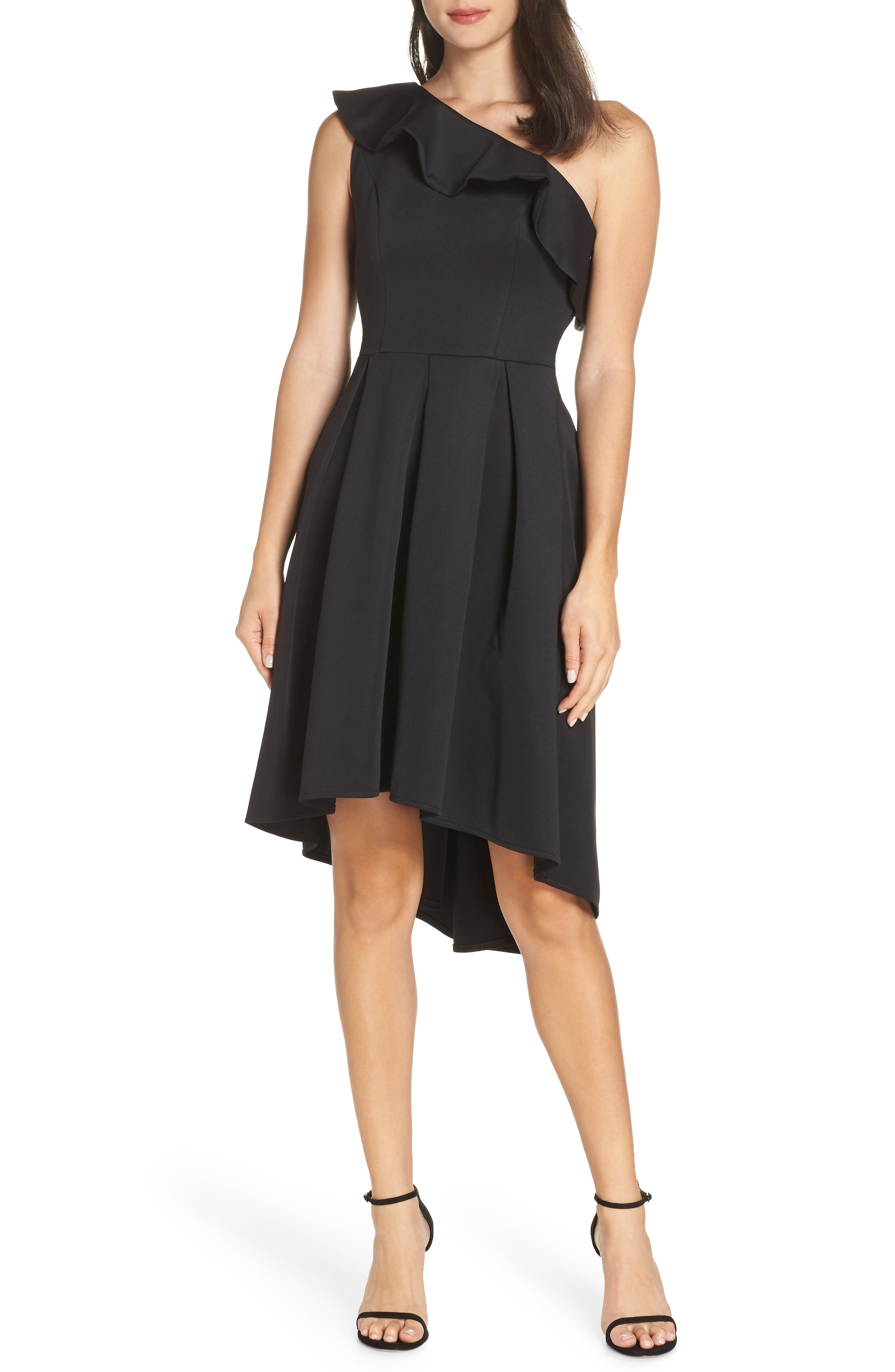 Chi Chi London One-Shoulder High/low Cocktail Dress