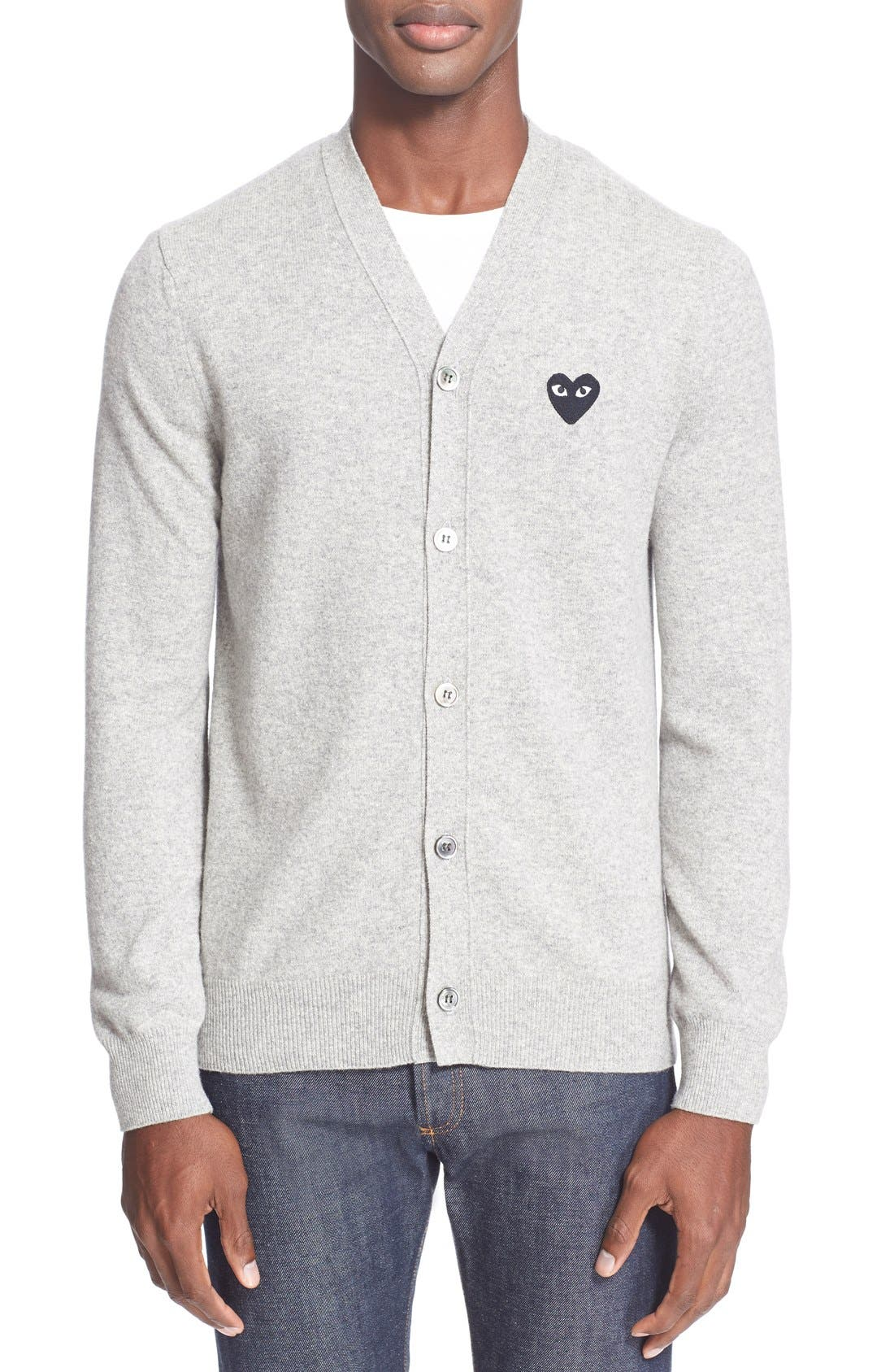 Comme Des Garcons Play Lambswool Cardigan