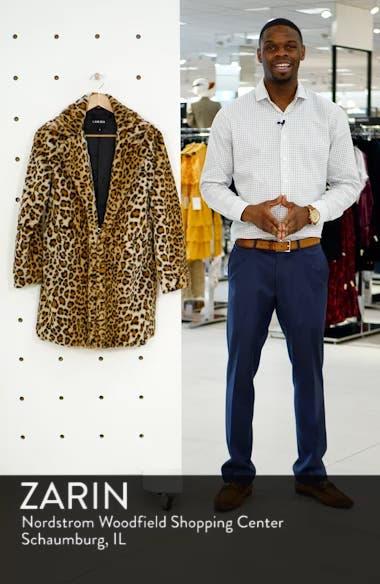 Stefani Leopard Print Faux Fur Coat, sales video thumbnail