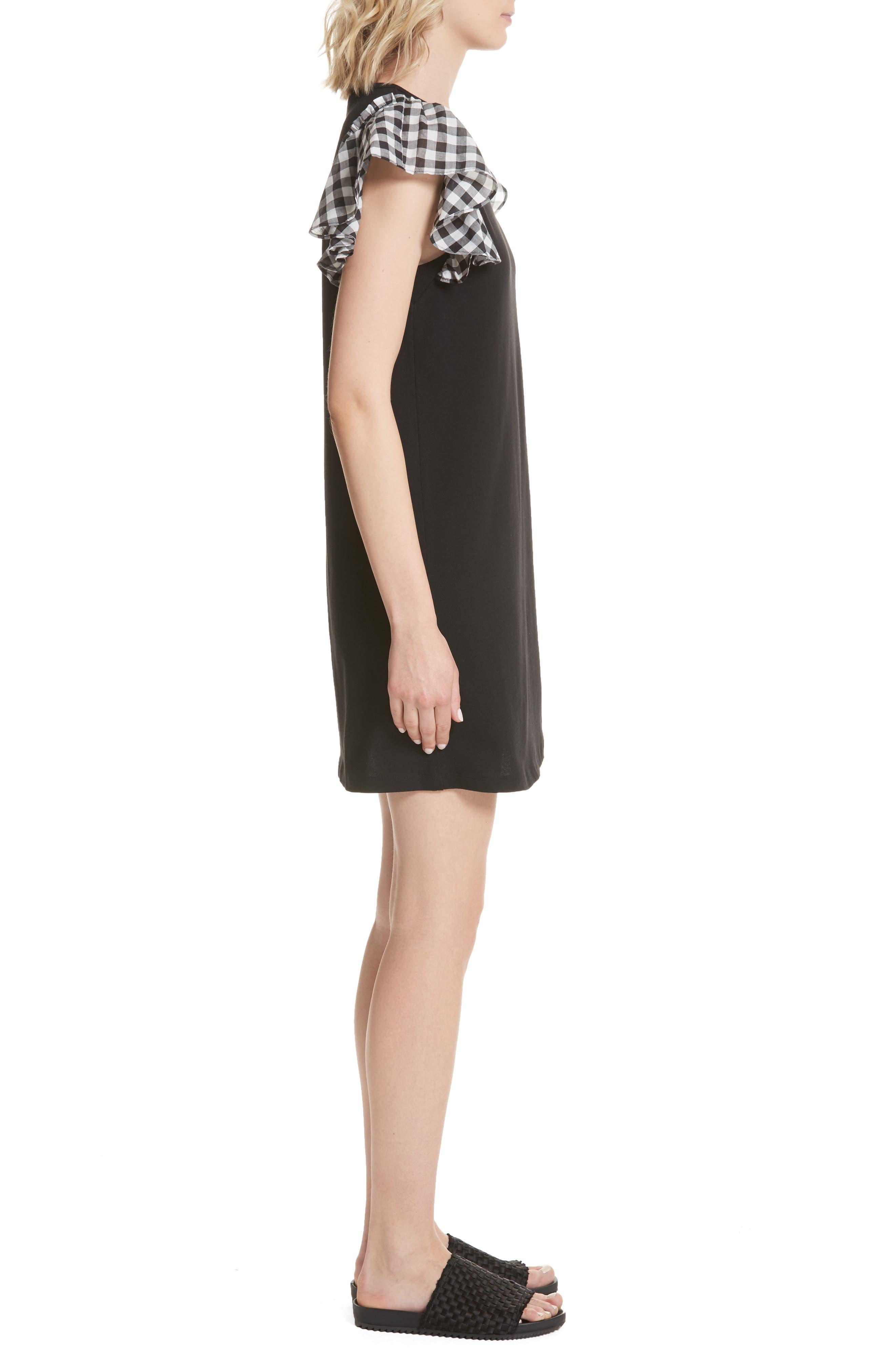 check sleeve dress,                             Alternate thumbnail 3, color,