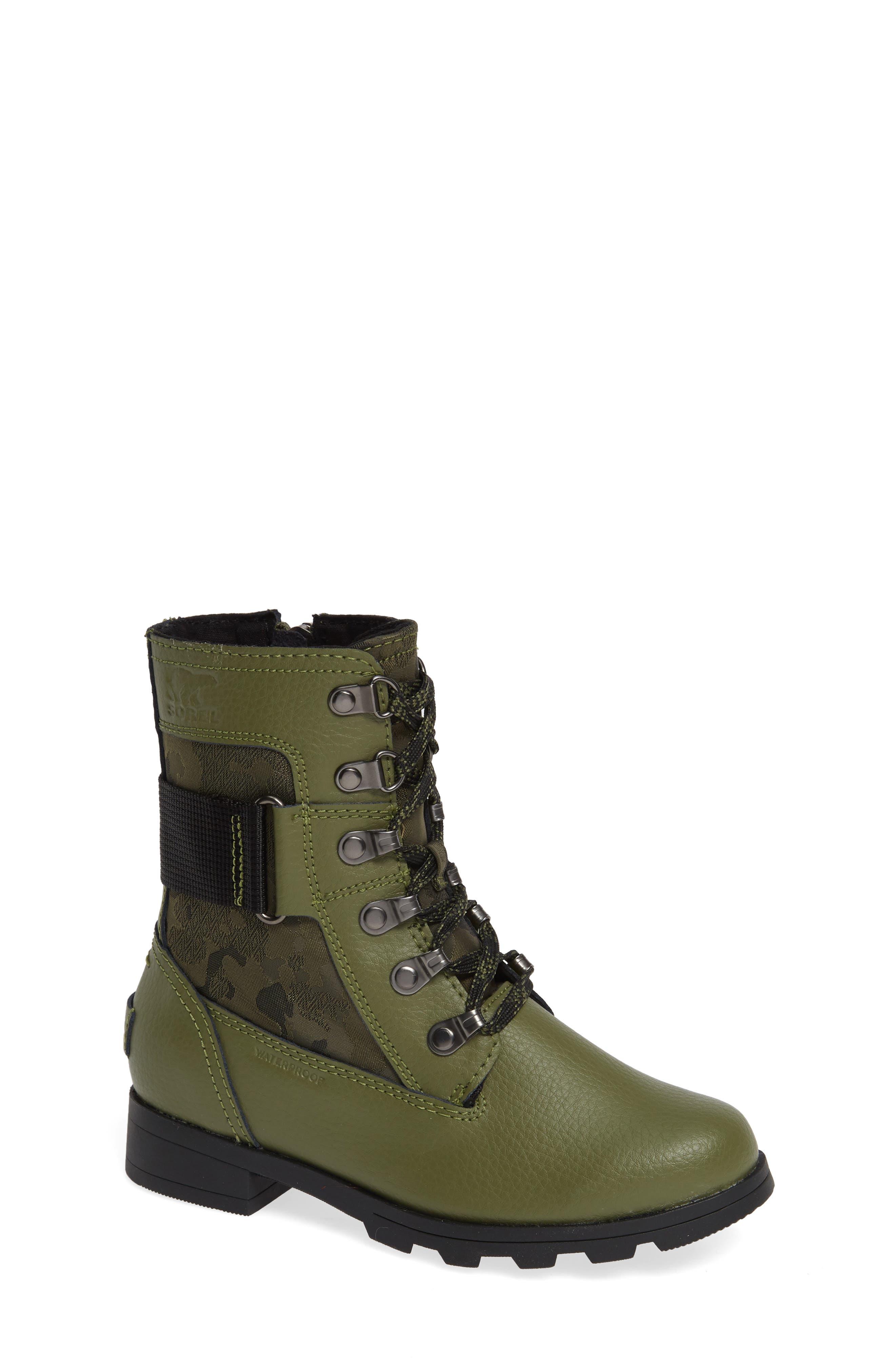 Emelie Waterproof Boot,                         Main,                         color, HIKER GREEN/ BLACK