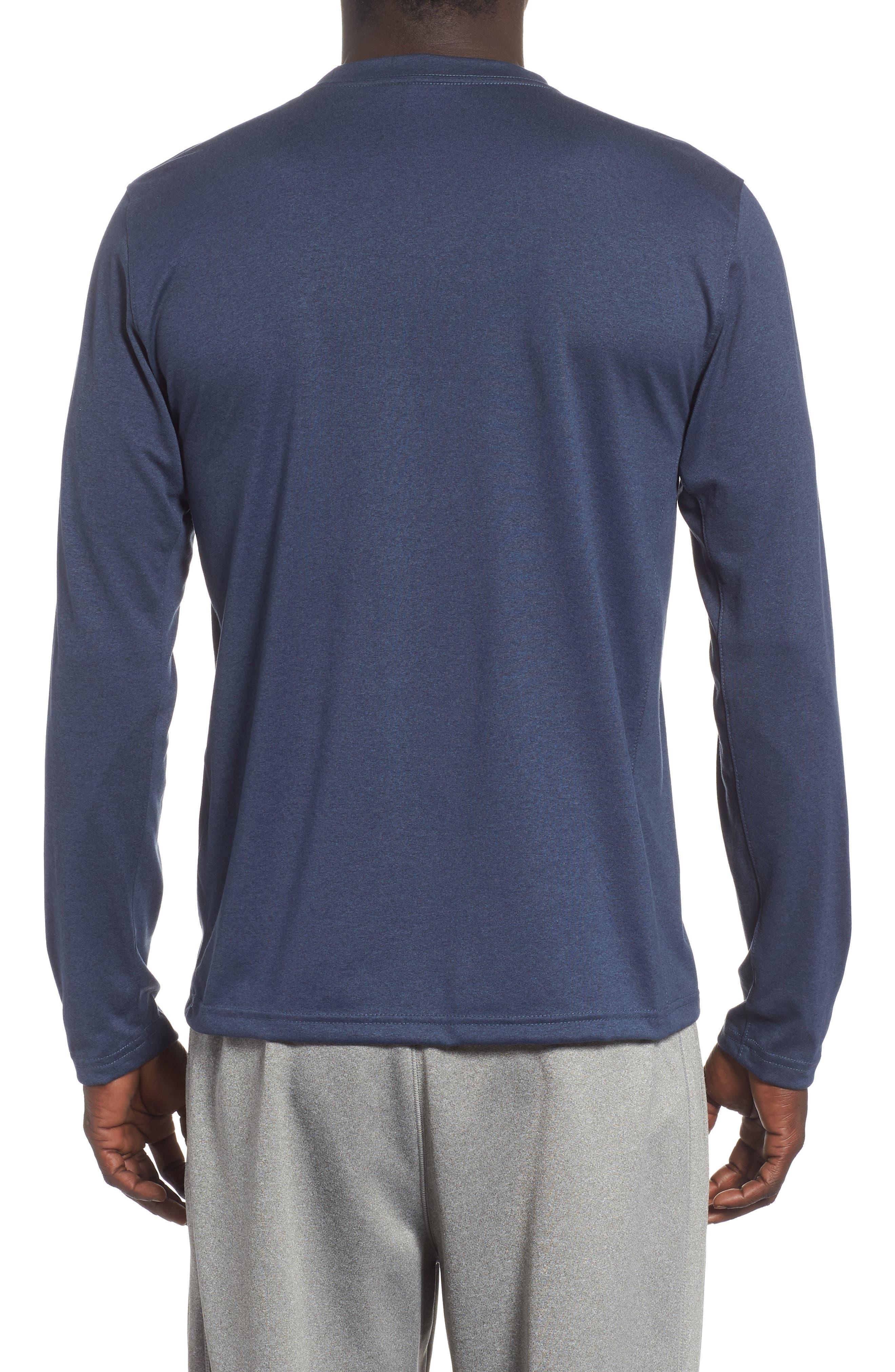 'Legend 2.0' Long Sleeve Dri-FIT Training T-Shirt,                             Alternate thumbnail 2, color,                             THUNDER BLUE/ BLACK