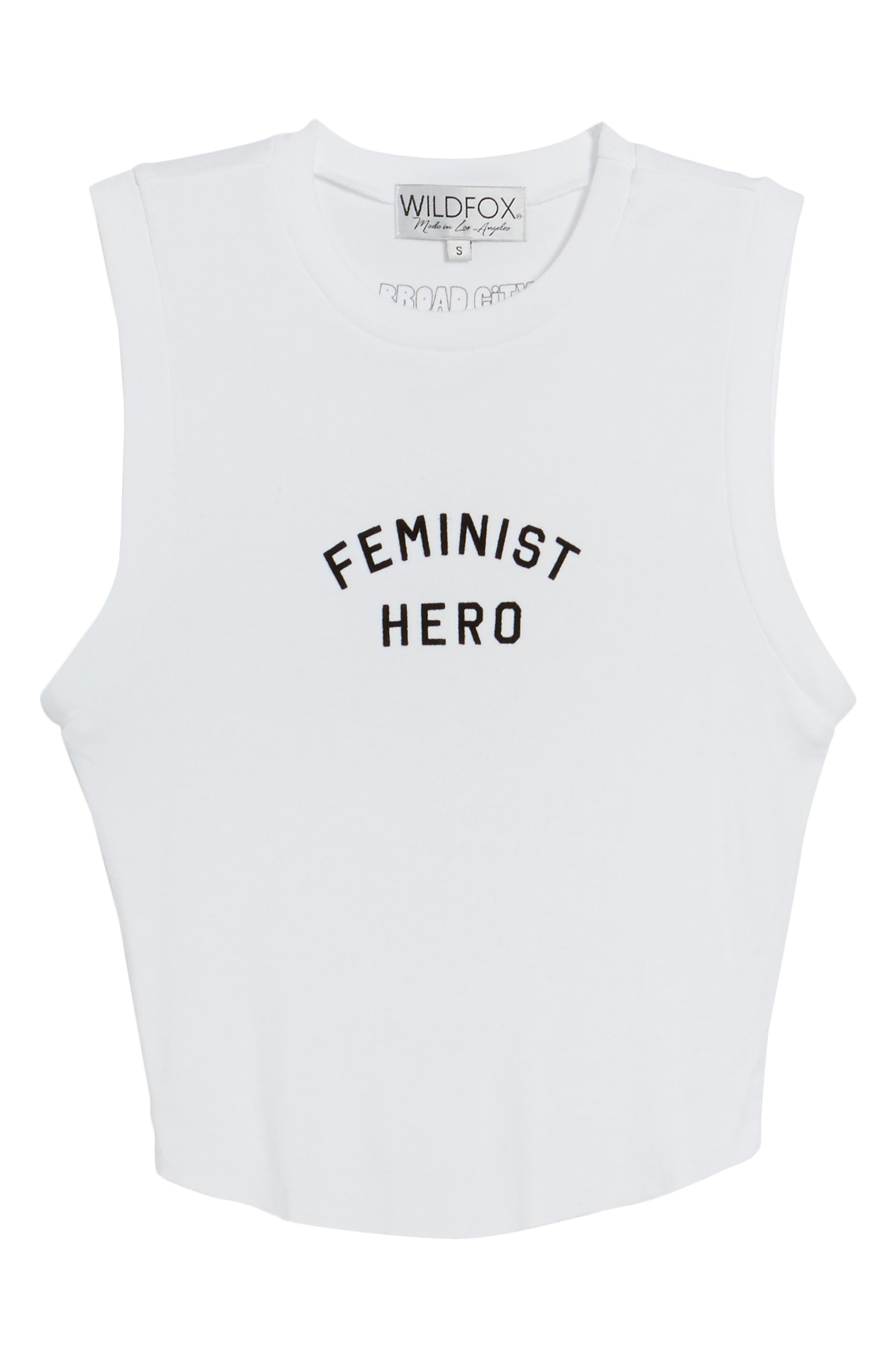 Feminist Hero Keaton Tank,                             Alternate thumbnail 6, color,