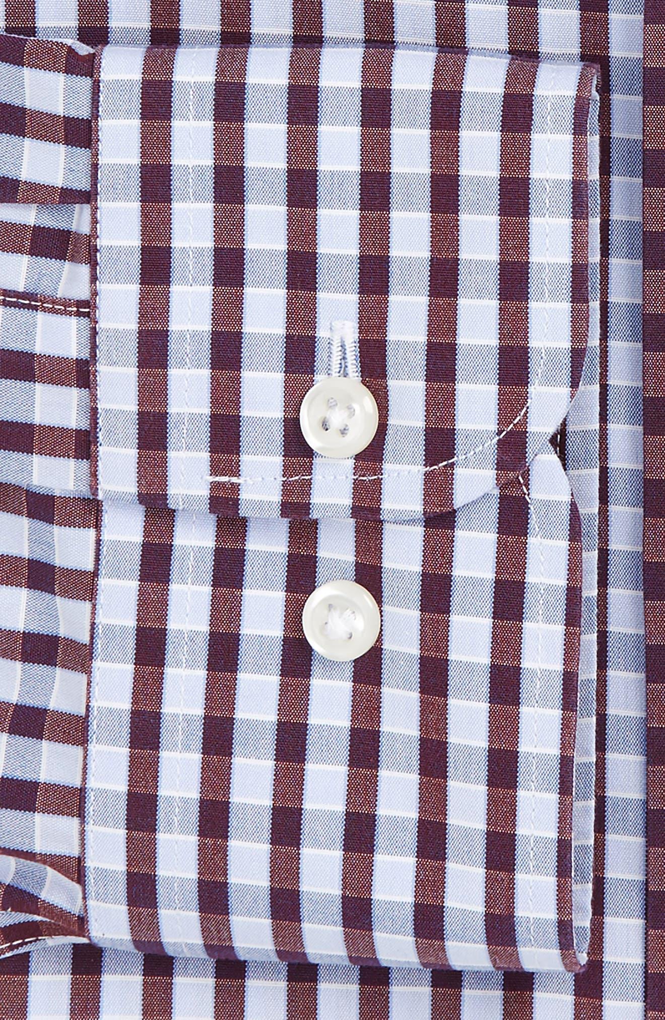Smartcare<sup>™</sup> Trim Fit Check Dress Shirt,                             Alternate thumbnail 6, color,