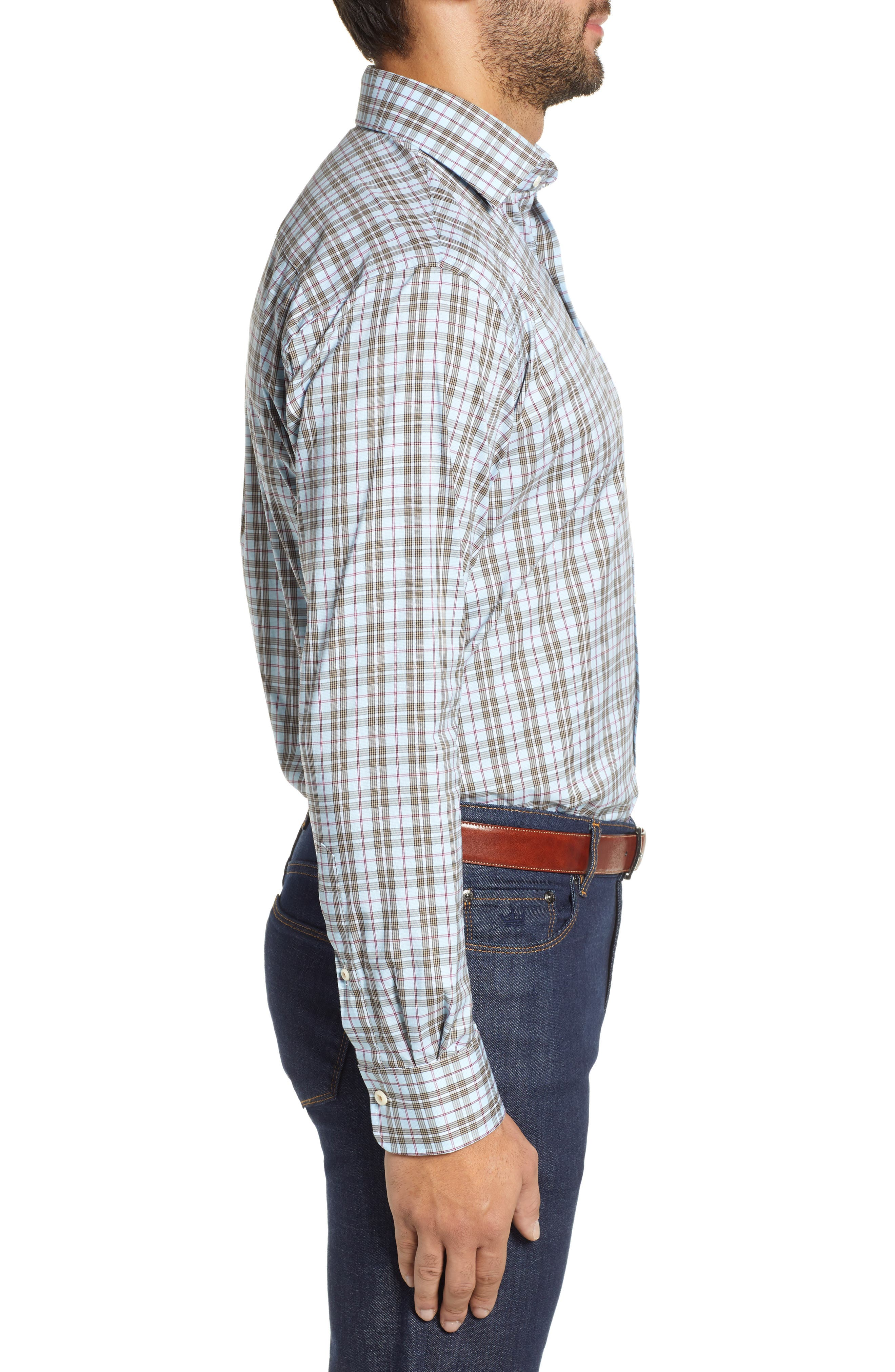 Crown Comfort Hazel Glen Regular Fit Sport Shirt,                             Alternate thumbnail 4, color,                             477