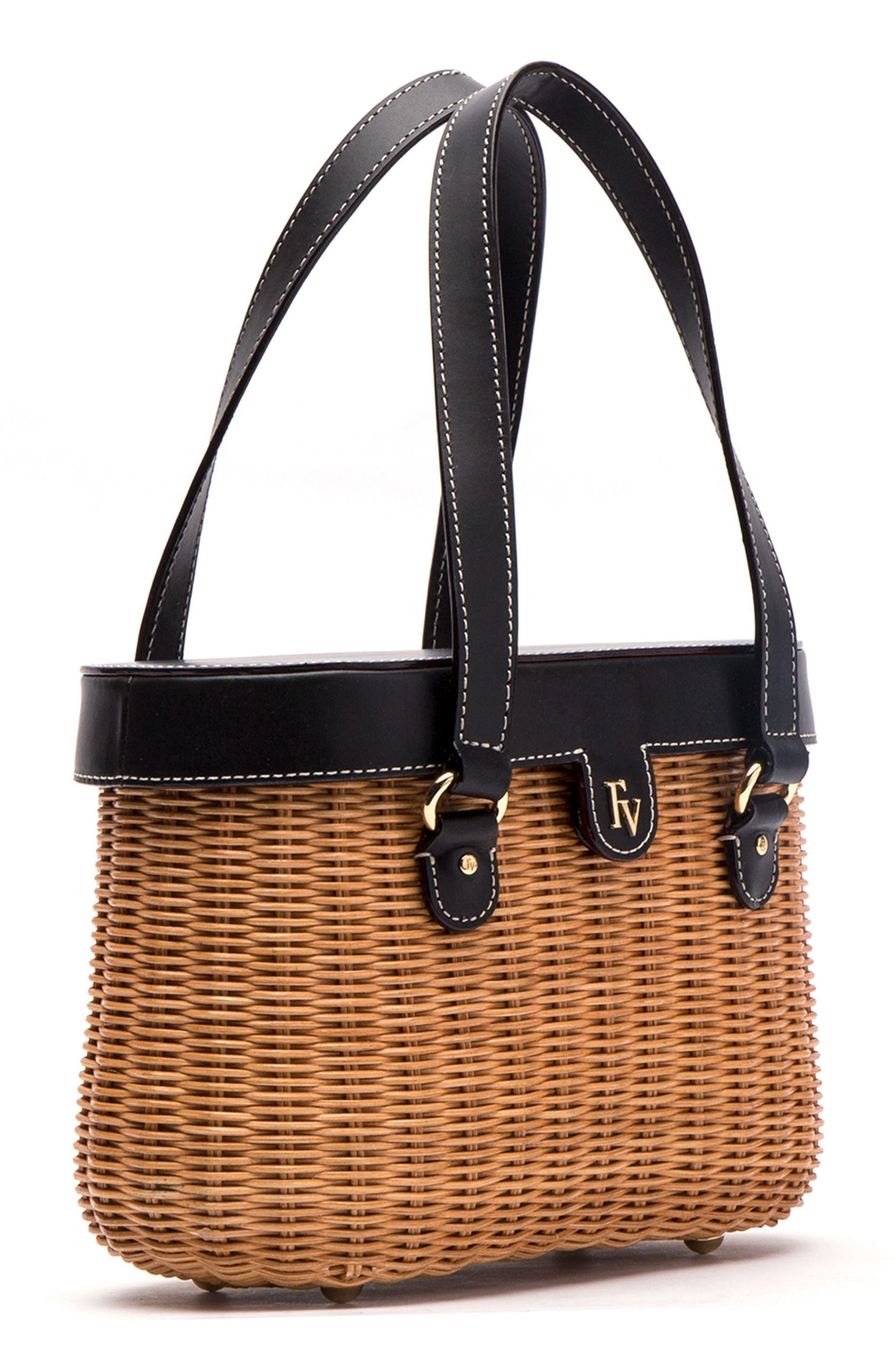 Wicker Basket Shoulder Bag,                             Alternate thumbnail 4, color,                             250