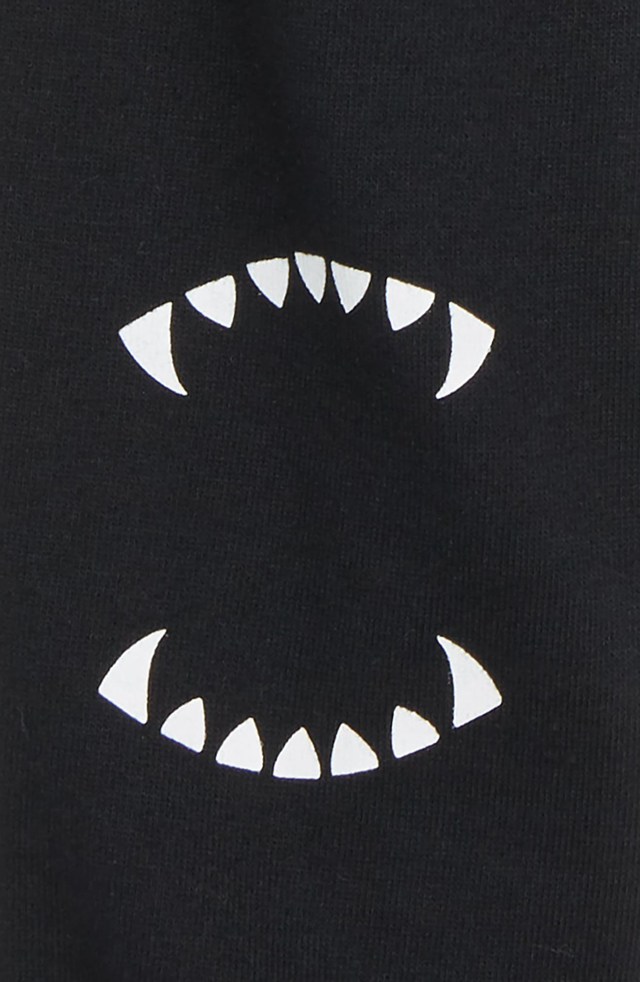 Teeth Graphic Cotton Jogger Pants,                             Alternate thumbnail 3, color,                             001