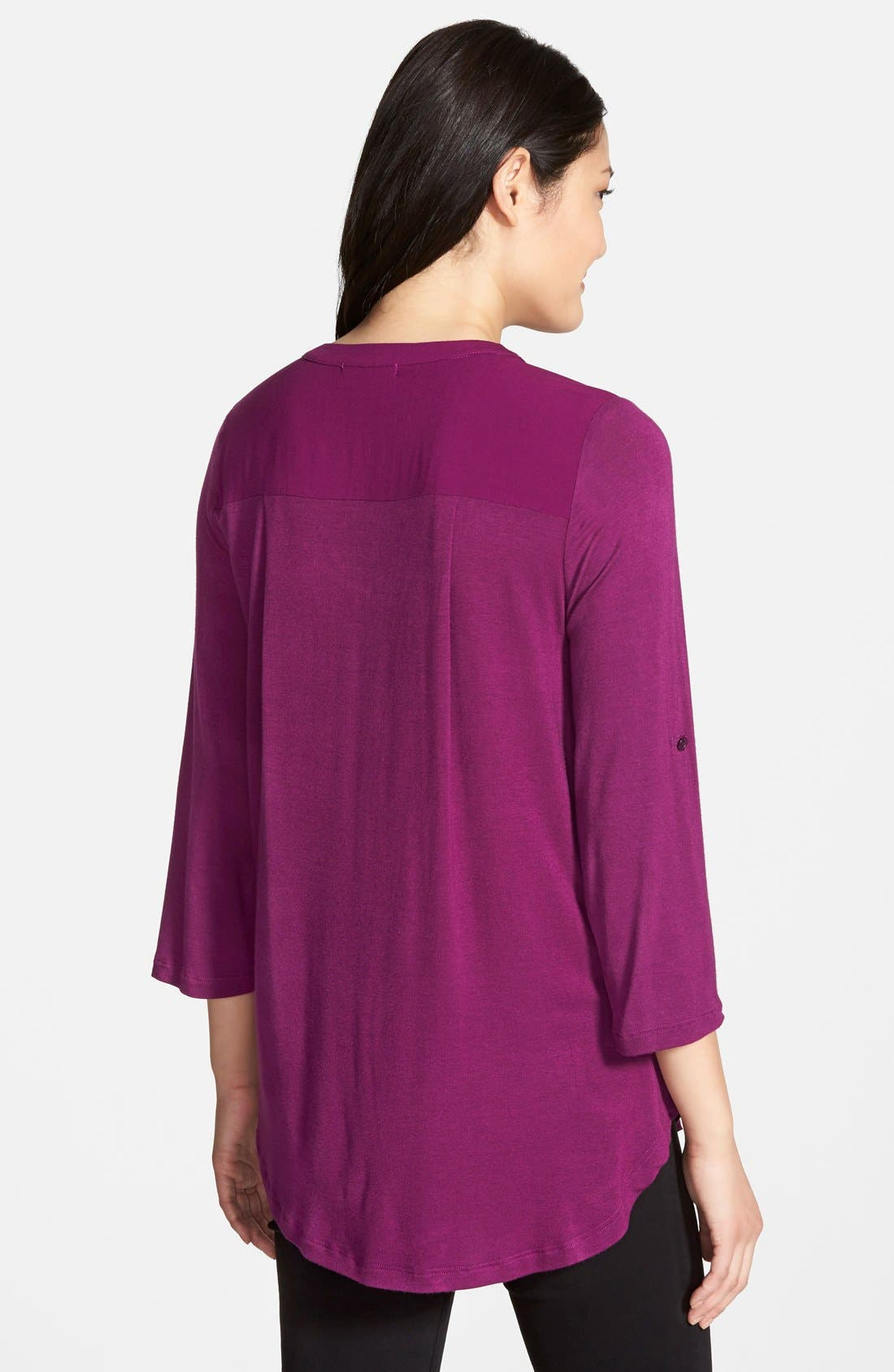 Mixed Media V-Neck Tunic,                             Alternate thumbnail 161, color,