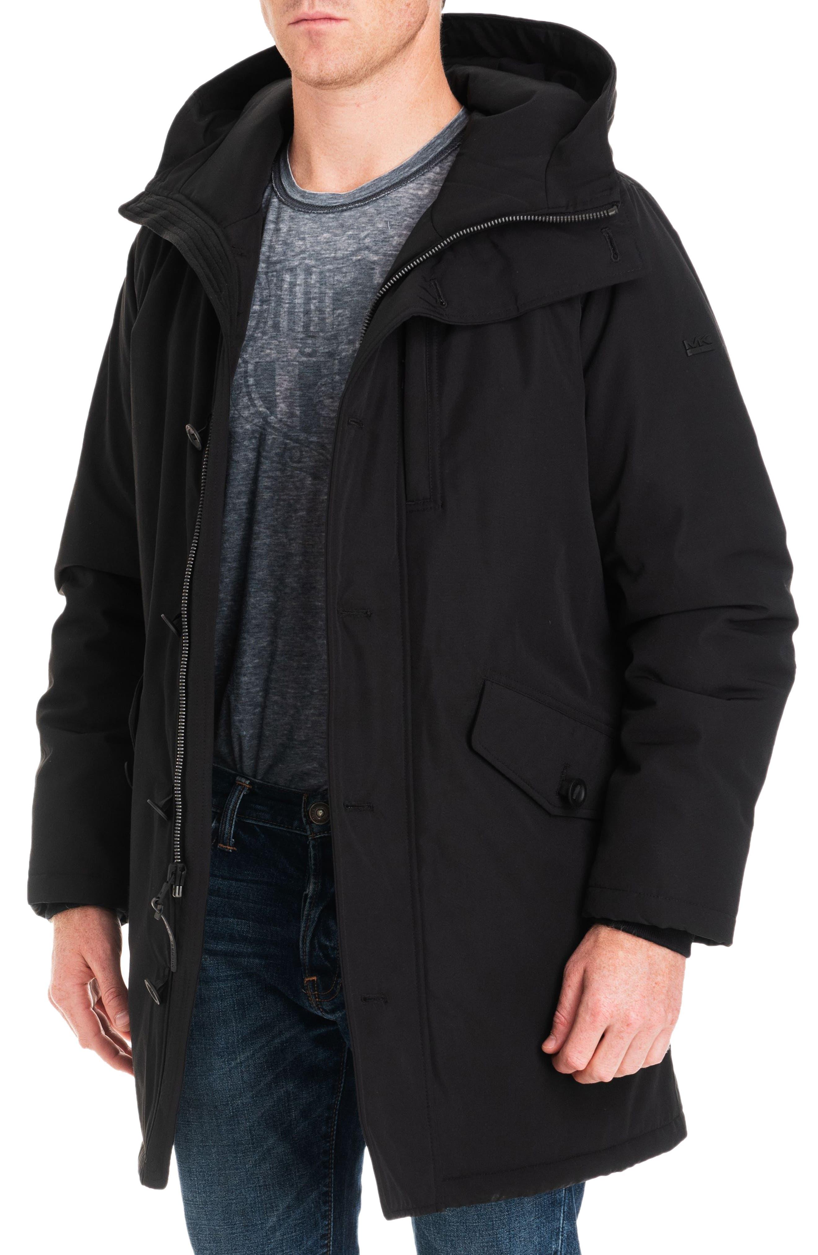 Gardiner Water Resistant Snorkel Coat,                             Alternate thumbnail 5, color,                             BLACK/ MIDNIGHT