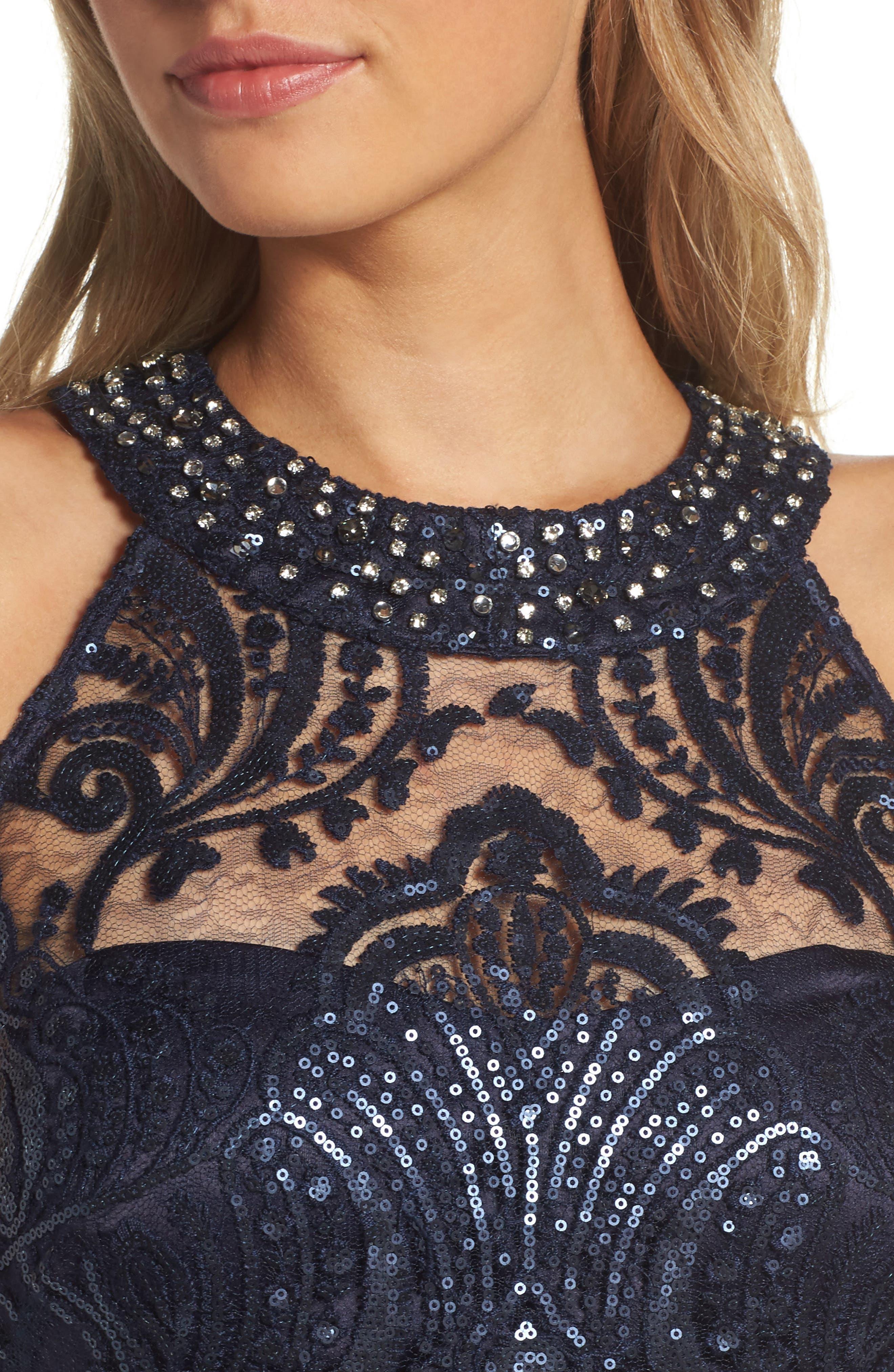 Lace Bodice Gown,                             Alternate thumbnail 16, color,