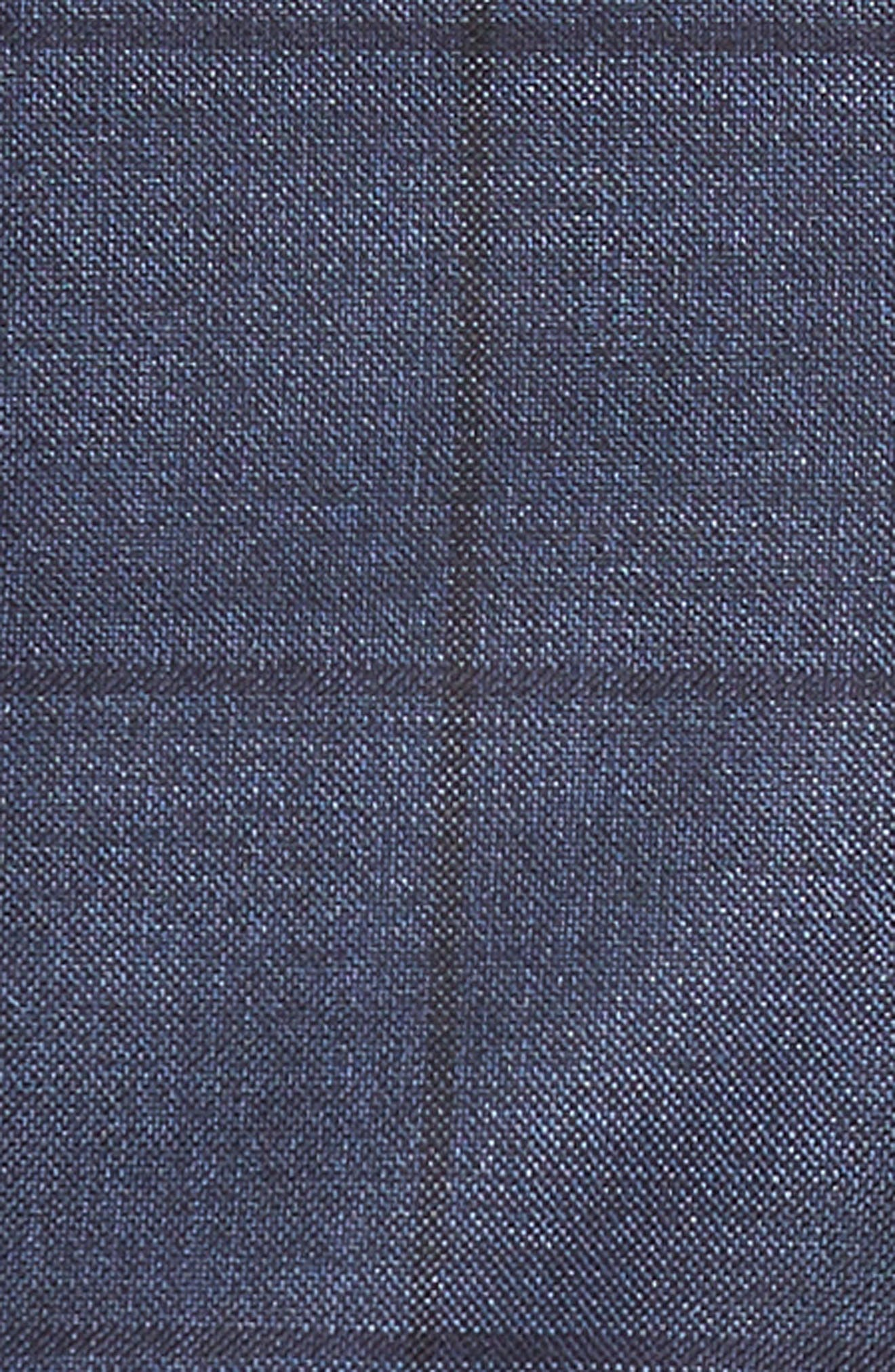 Harvers/Glover Trim Fit Windowpane Wool & Silk Suit,                             Alternate thumbnail 7, color,                             OPEN BLUE