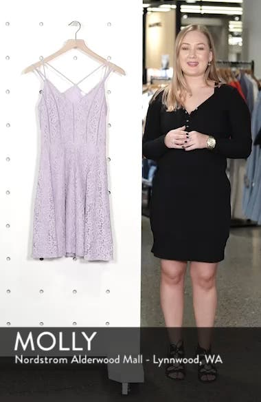 Strappy Lace Fit & Flare Dress, sales video thumbnail
