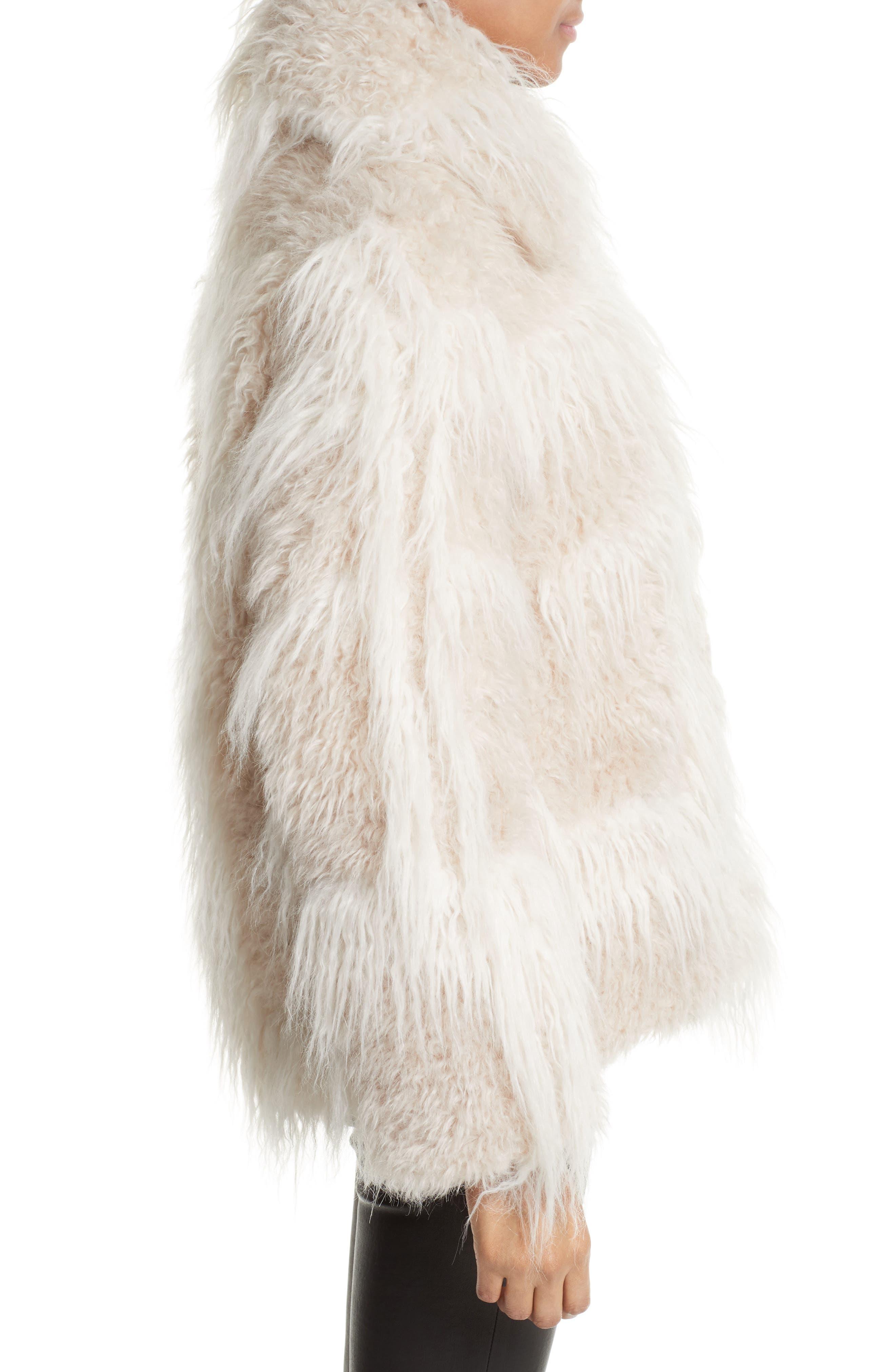 Faux Fur Jacket,                             Alternate thumbnail 3, color,                             194