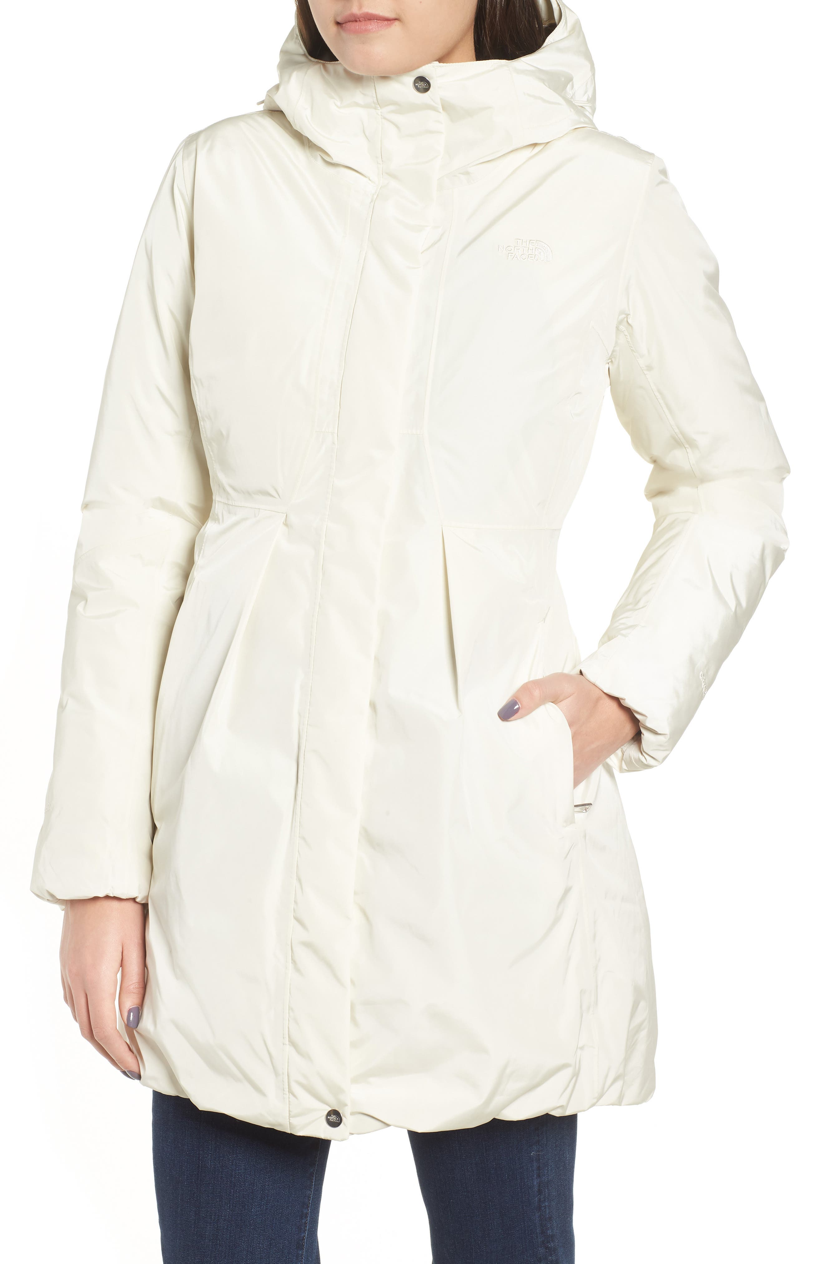 THE NORTH FACE,                             Transarctic Mama Down Parka,                             Alternate thumbnail 4, color,                             VINTAGE WHITE