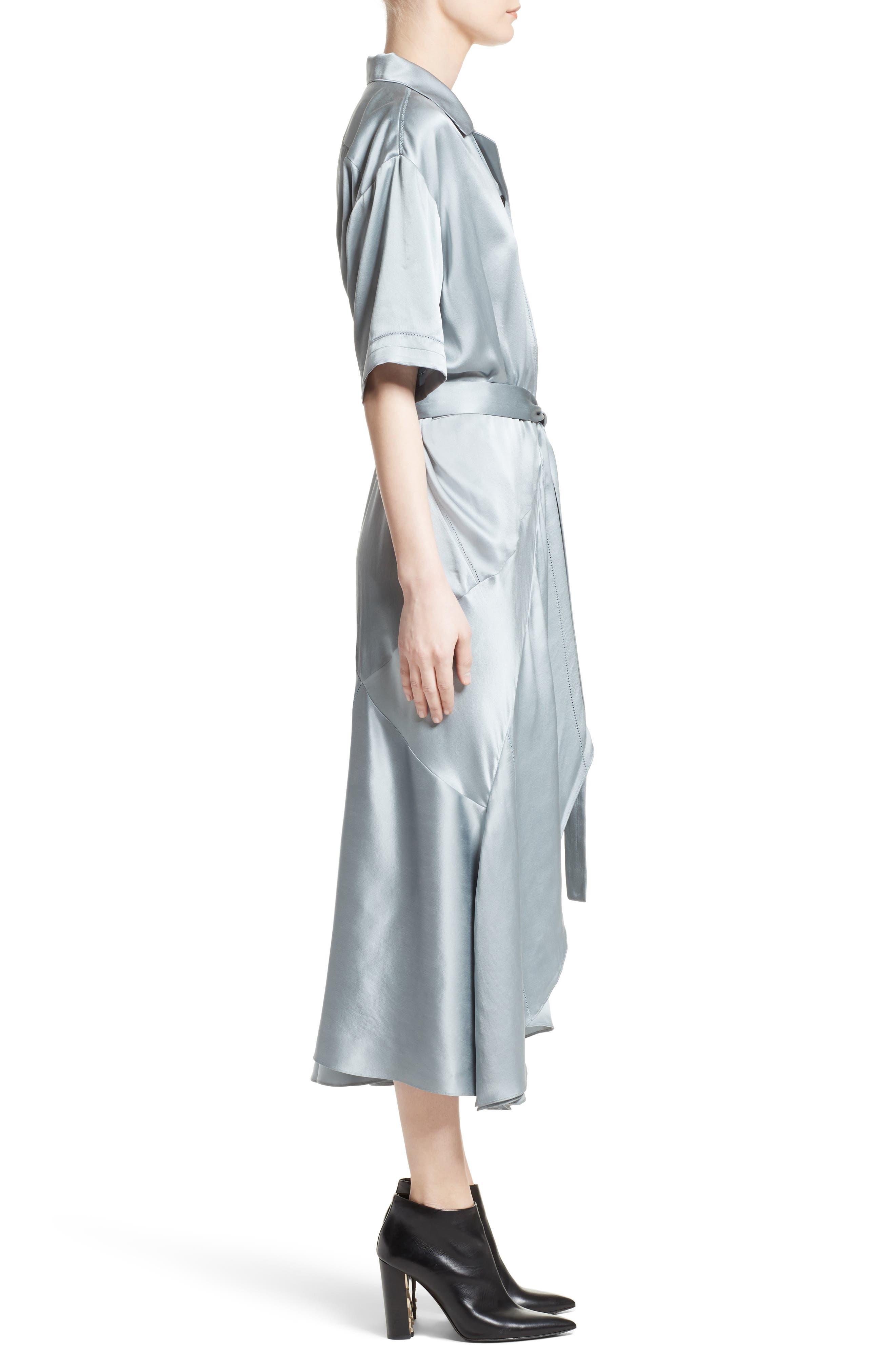 Emily Silk Shirtdress,                             Alternate thumbnail 3, color,                             452