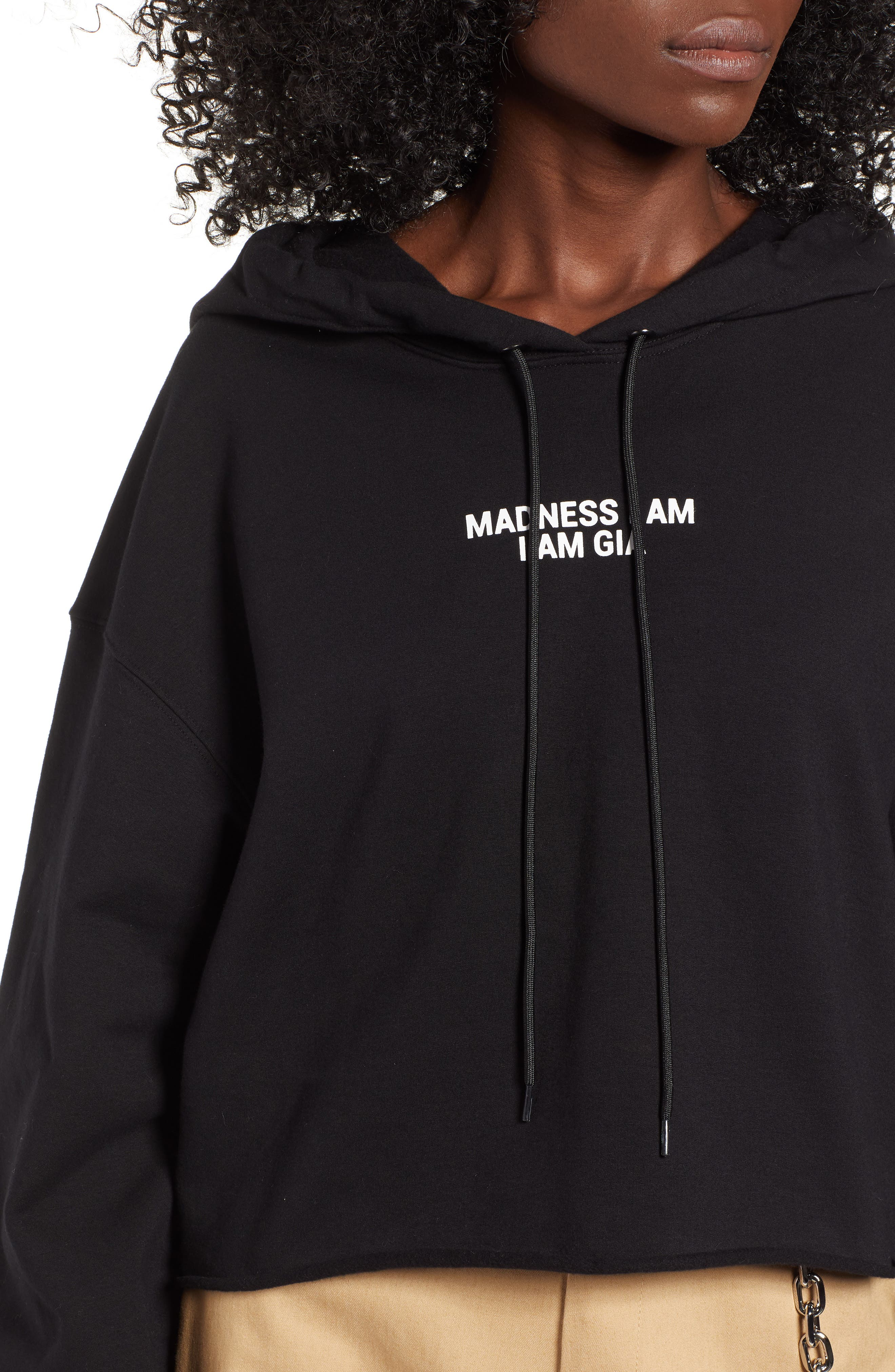 Madness I Am Hoodie,                             Alternate thumbnail 4, color,                             001