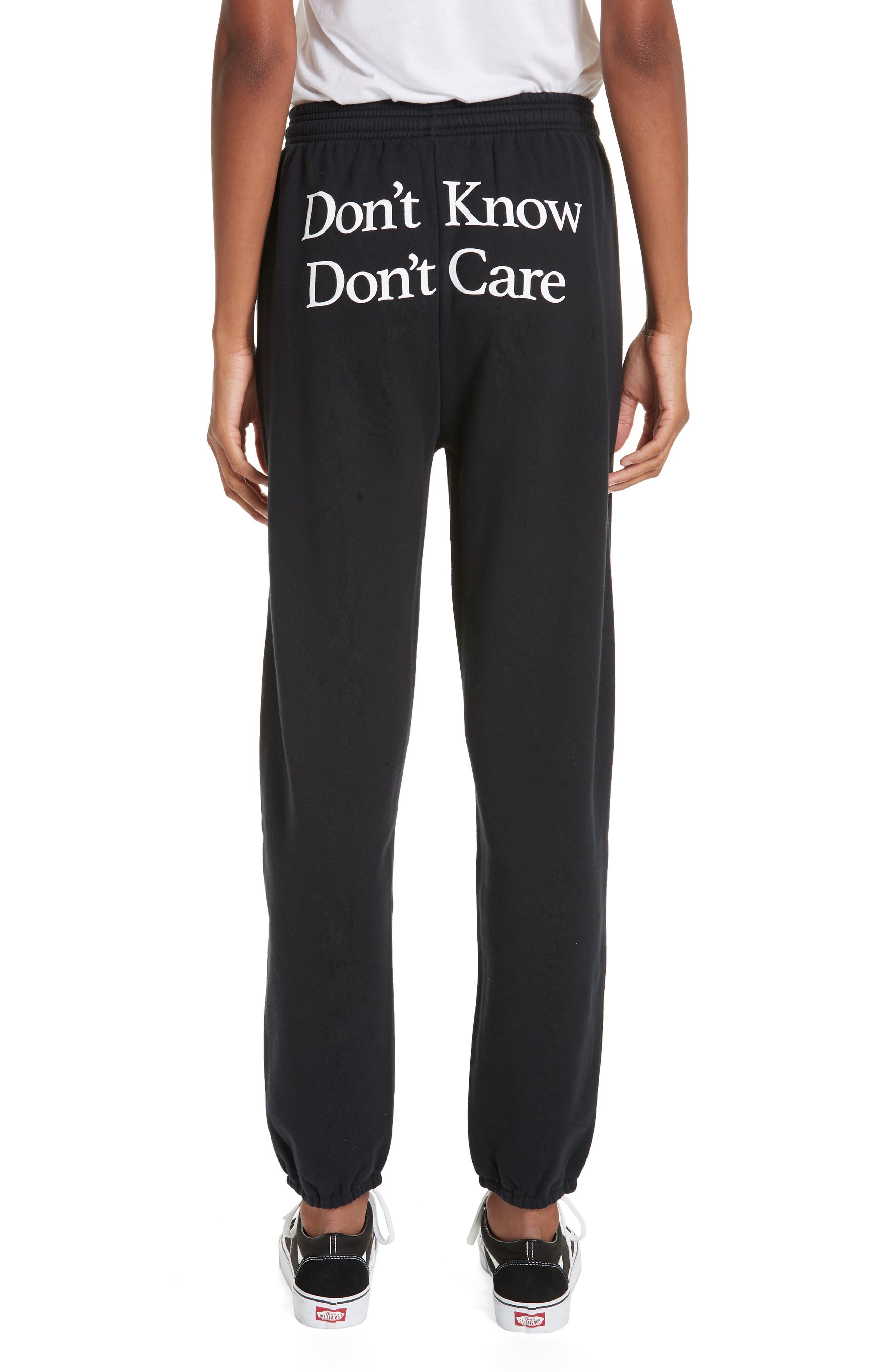 Don't Know Don't Care Jogger Pants,                             Alternate thumbnail 2, color,                             001