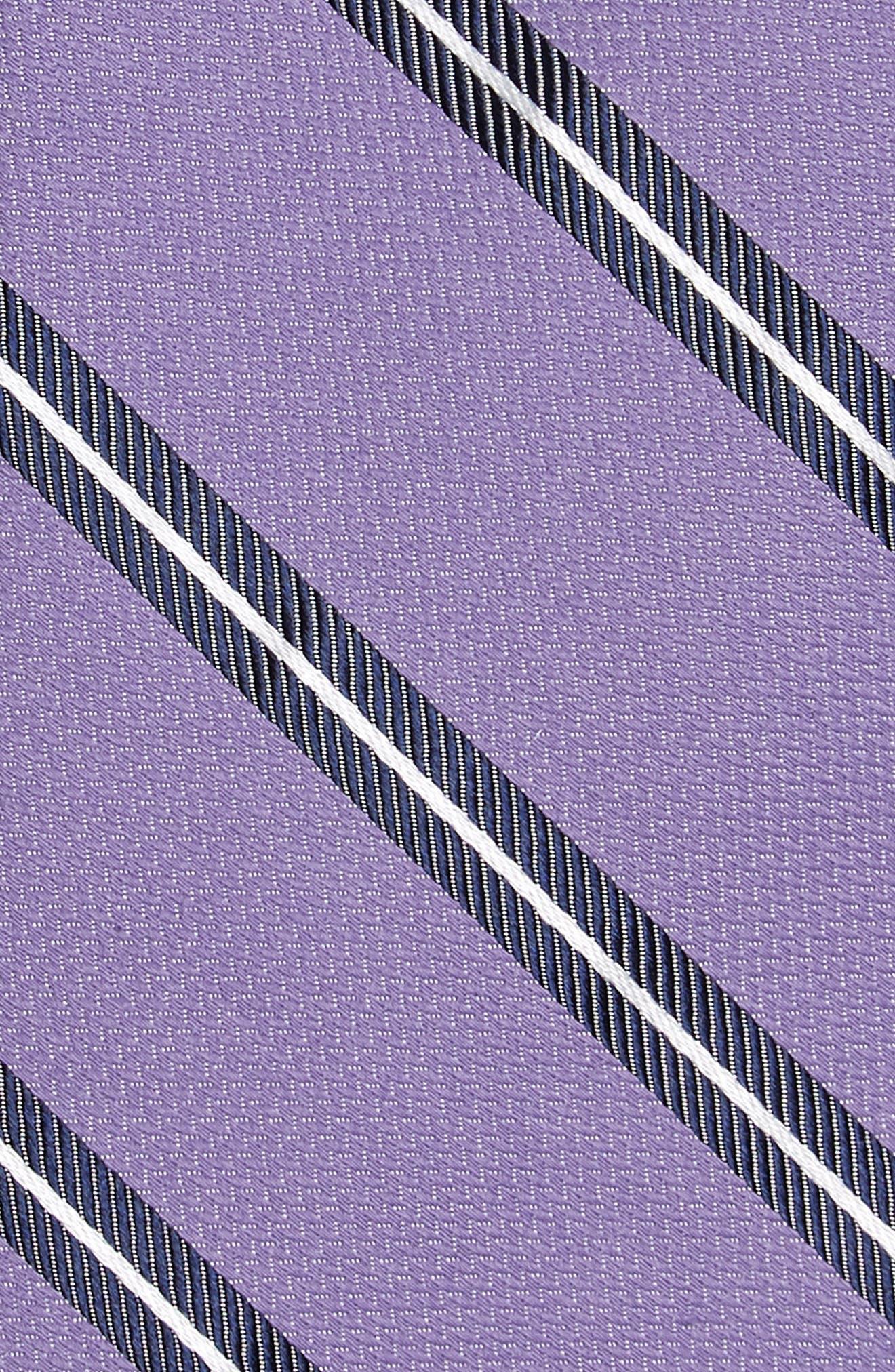 Edinger Stripe Silk & Cotton Tie,                             Alternate thumbnail 10, color,