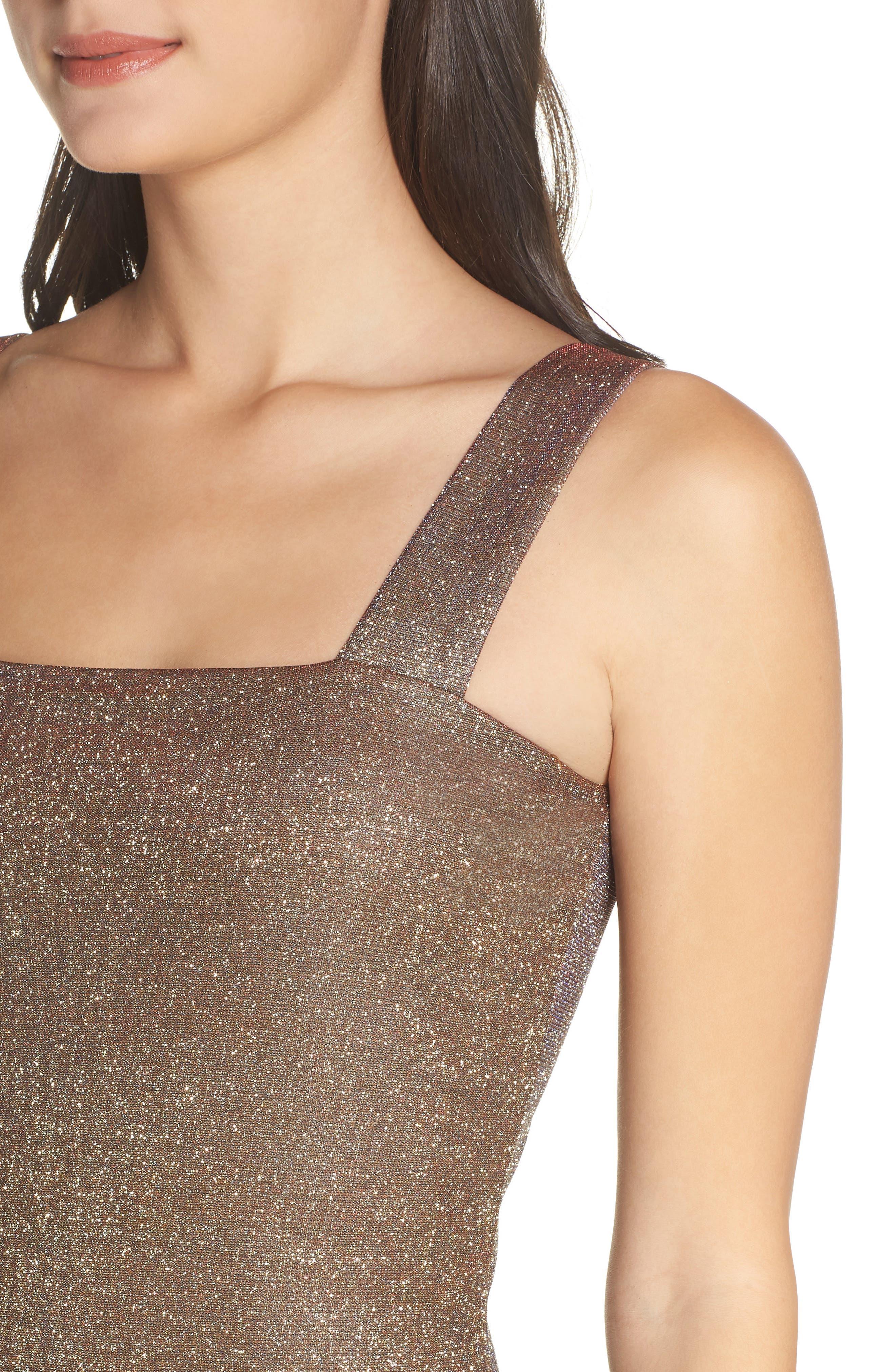 Mimi Sparkle Dress,                             Alternate thumbnail 4, color,                             GOLD