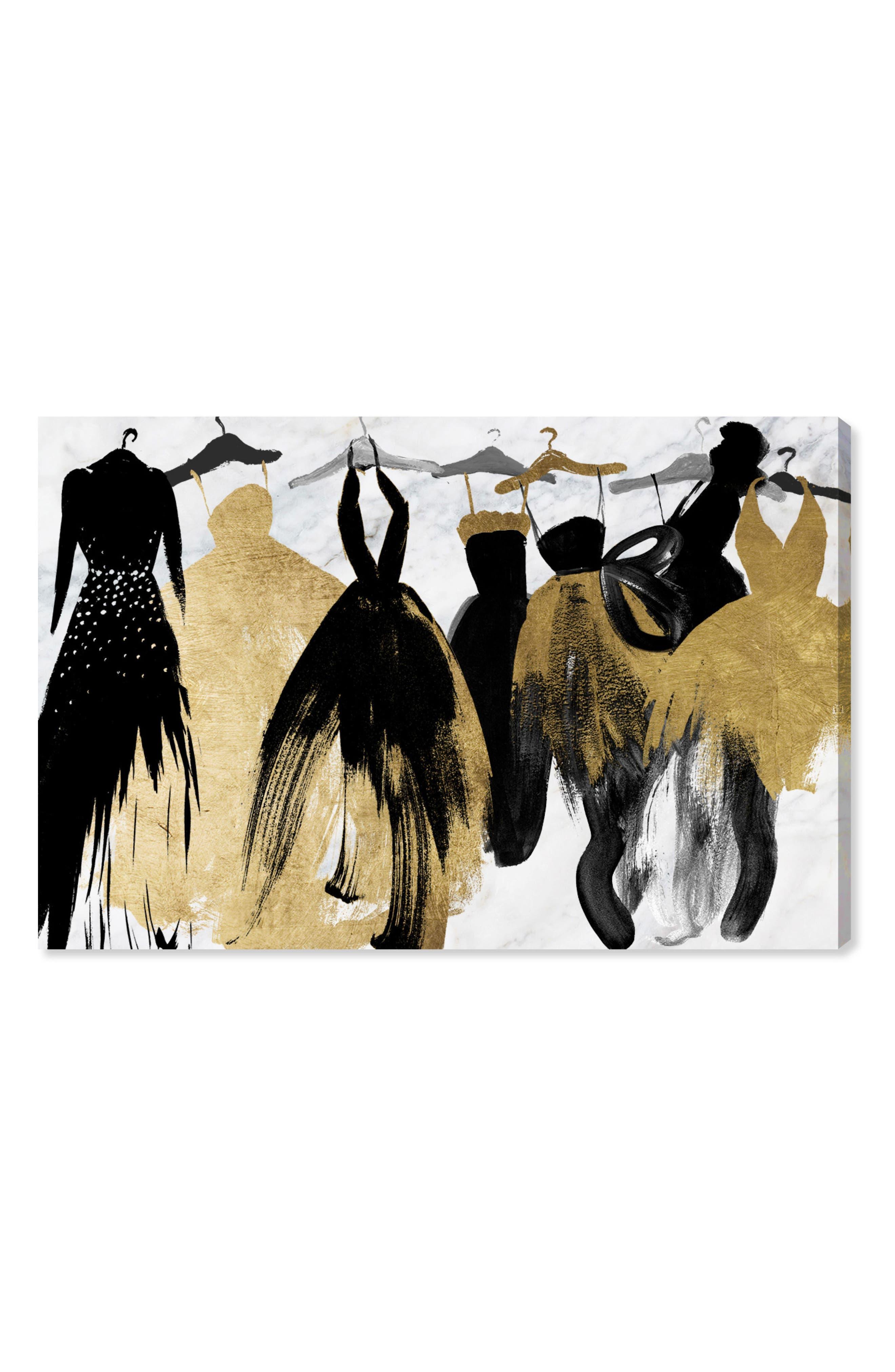 Lovely Closet Lovely Evening Canvas Wall Art,                             Main thumbnail 1, color,                             BLACK