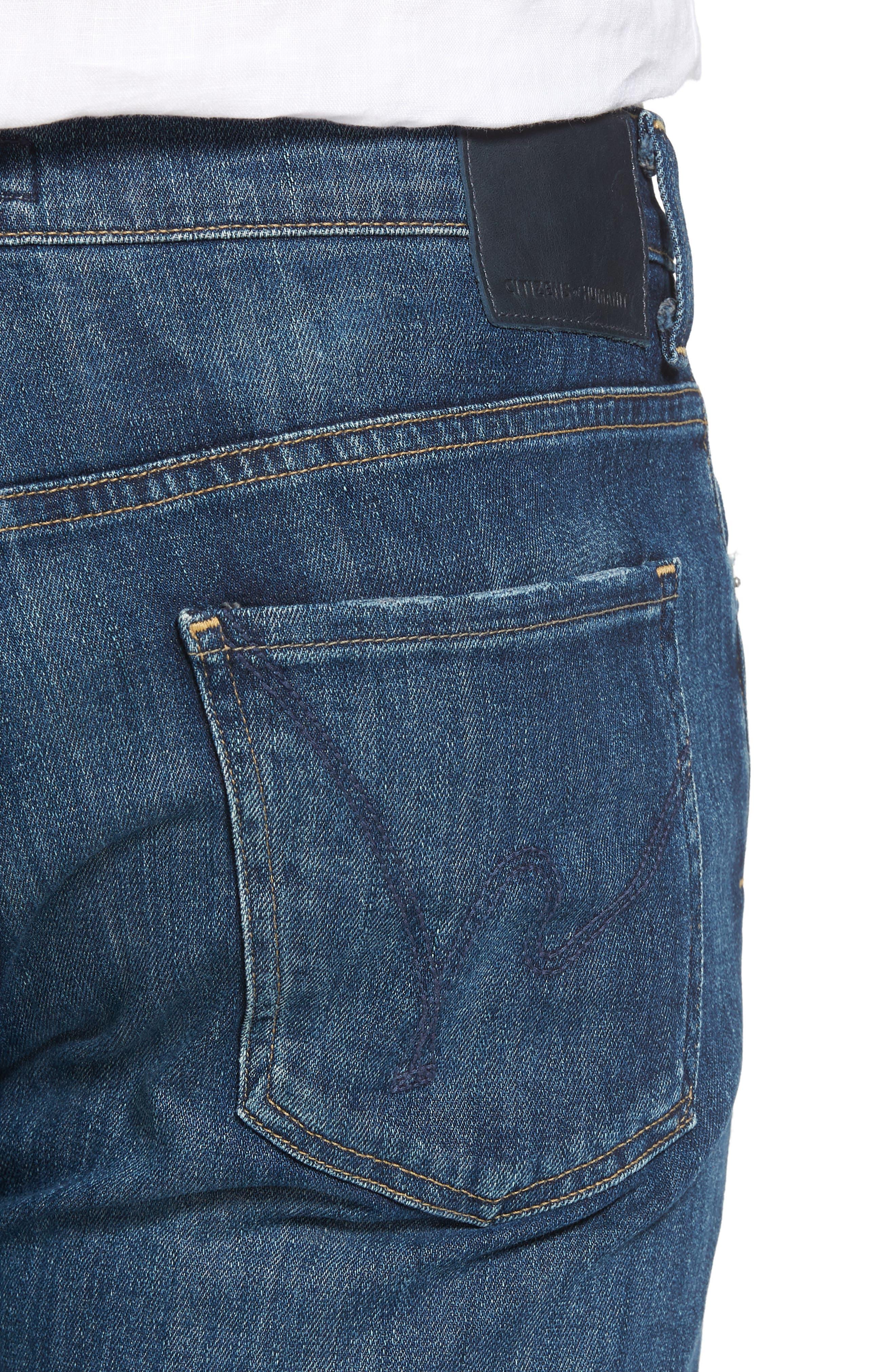 Sid Straight Leg Jeans,                             Alternate thumbnail 4, color,                             ADLER