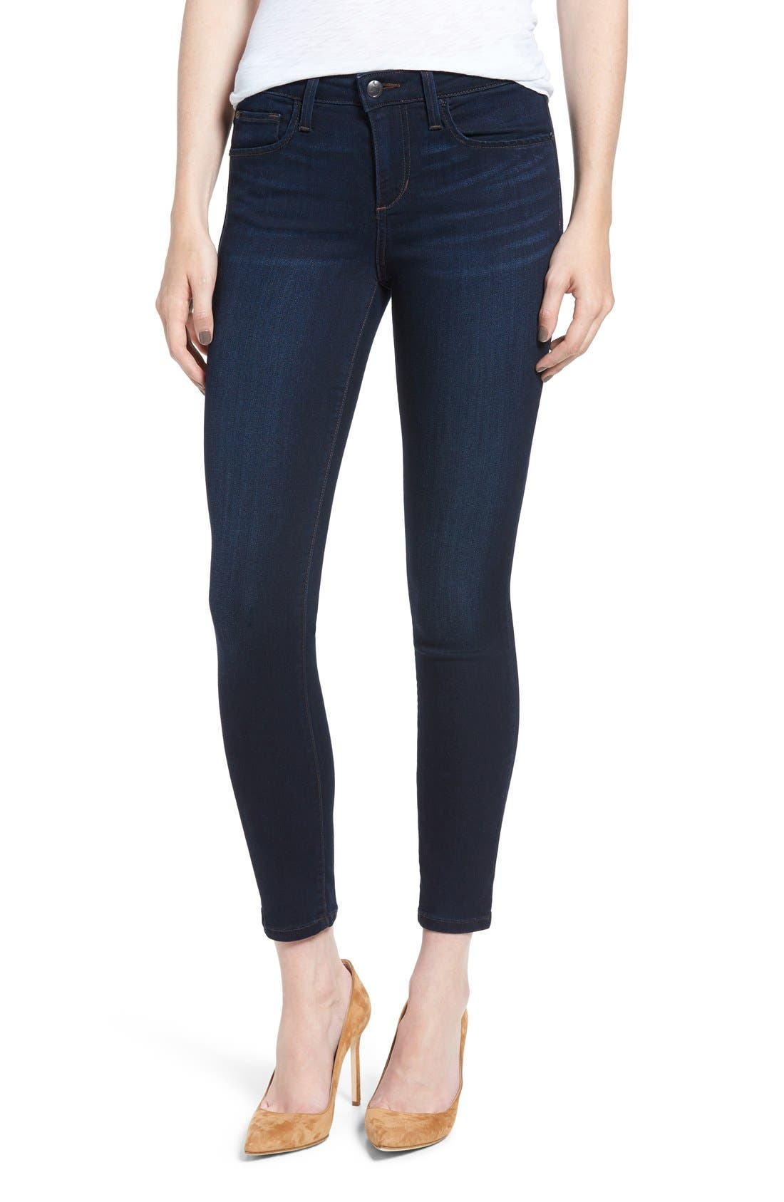 'Icon' Ankle Skinny Jeans,                             Alternate thumbnail 6, color,                             SELMA
