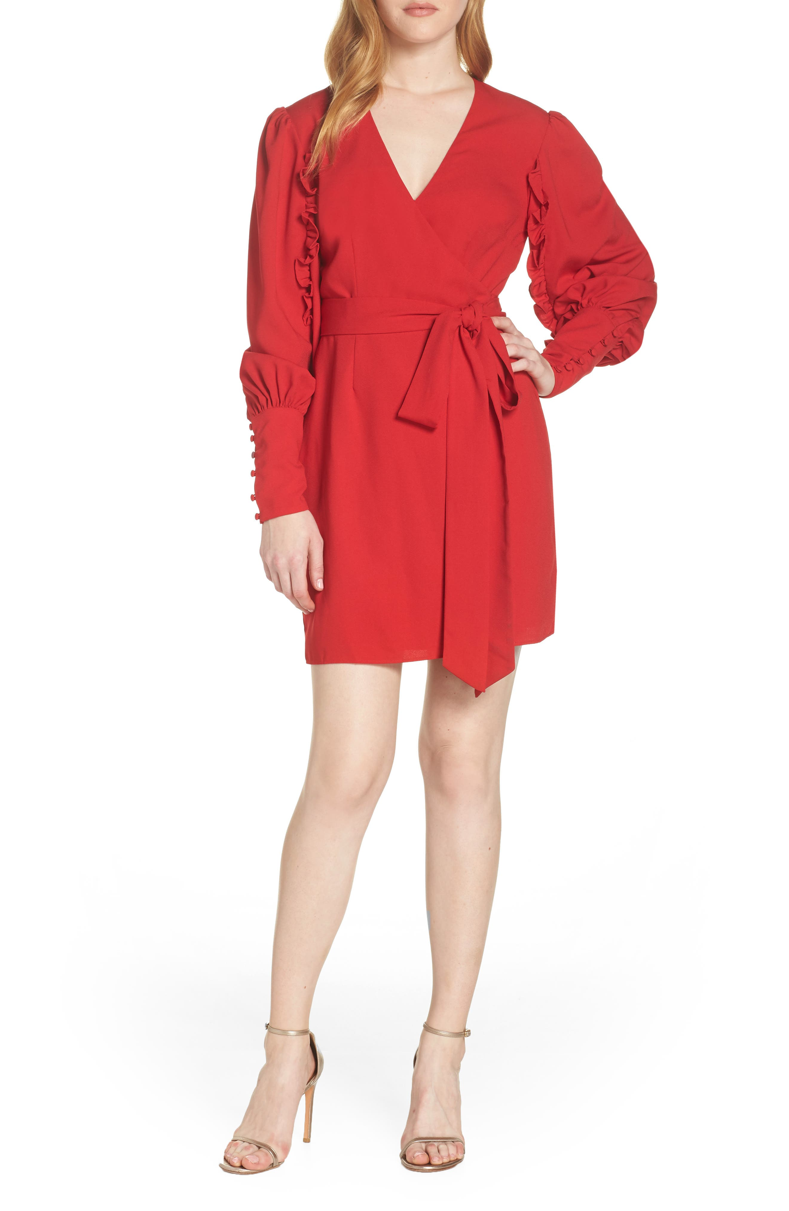 Keepsake The Label Forget You Wrap Dress, Red