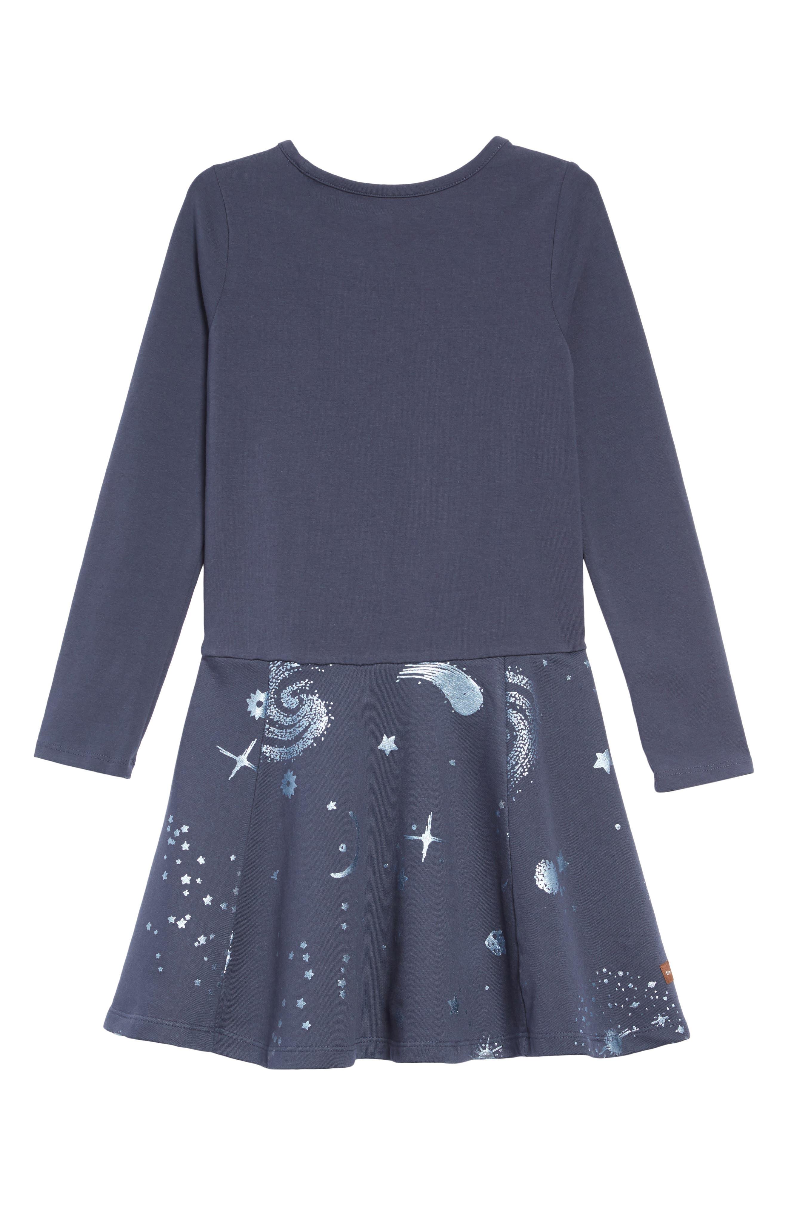 Starry Skies Dress,                             Alternate thumbnail 2, color,                             STARRY SKIES - INDIGO
