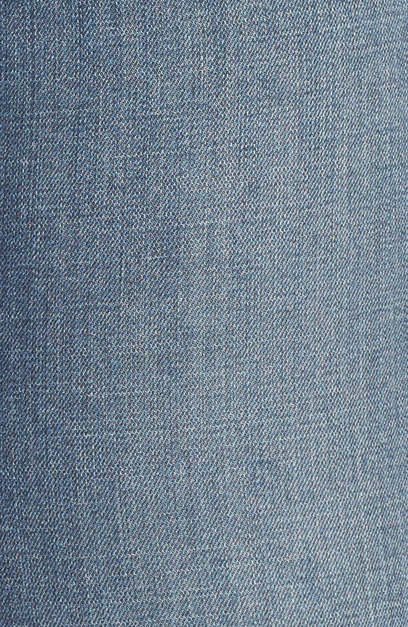 Good Waist High Waist Ripped Skinny Jeans,                             Alternate thumbnail 5, color,                             401