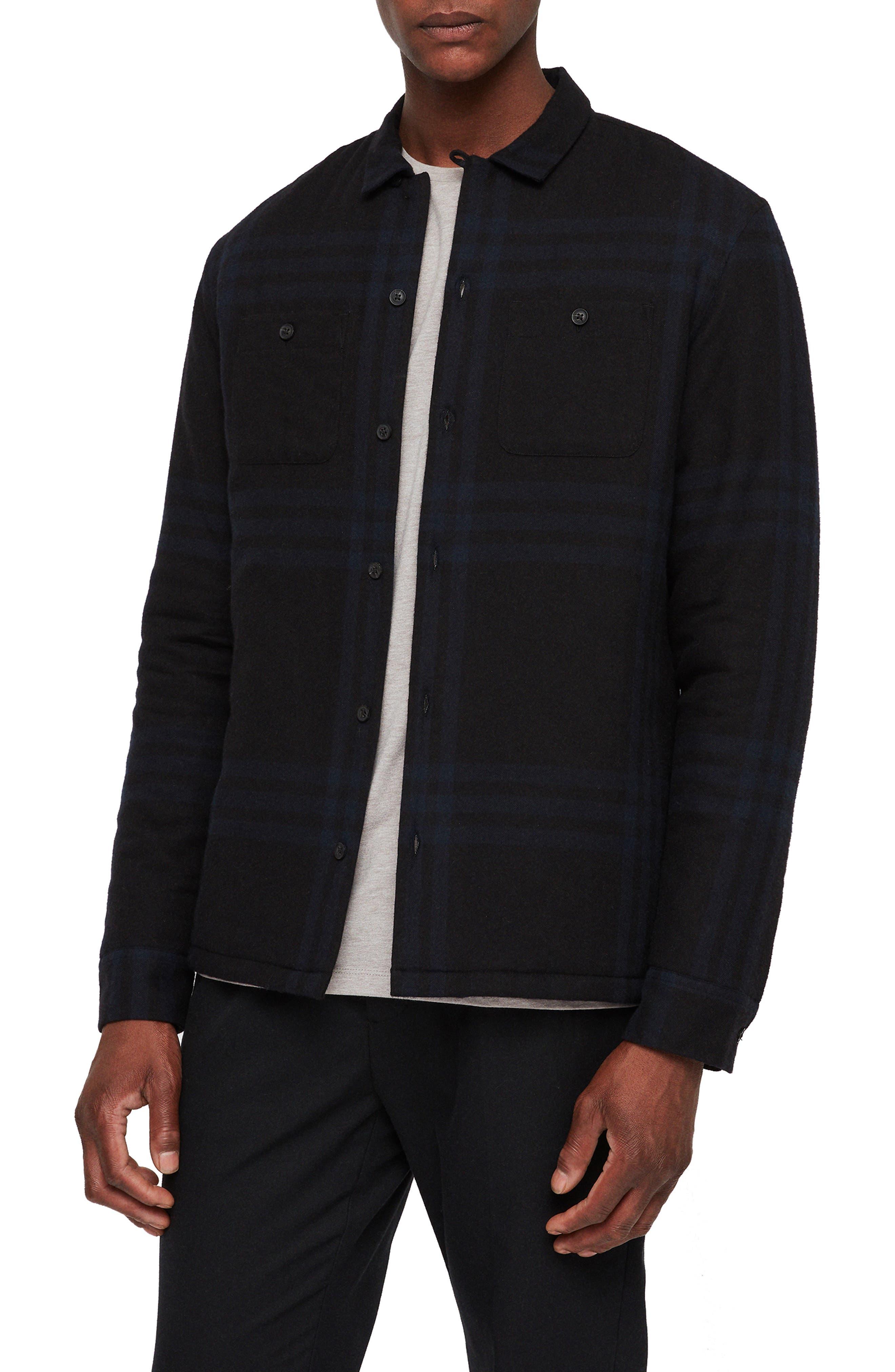 ALLSAINTS Suring Regular Fit Sport Shirt, Main, color, 001