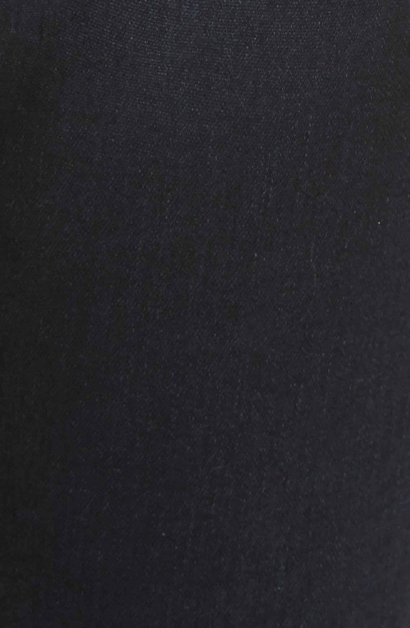 Keith Corset Waist Skinny Jeans,                             Alternate thumbnail 5, color,                             DARK SLATE