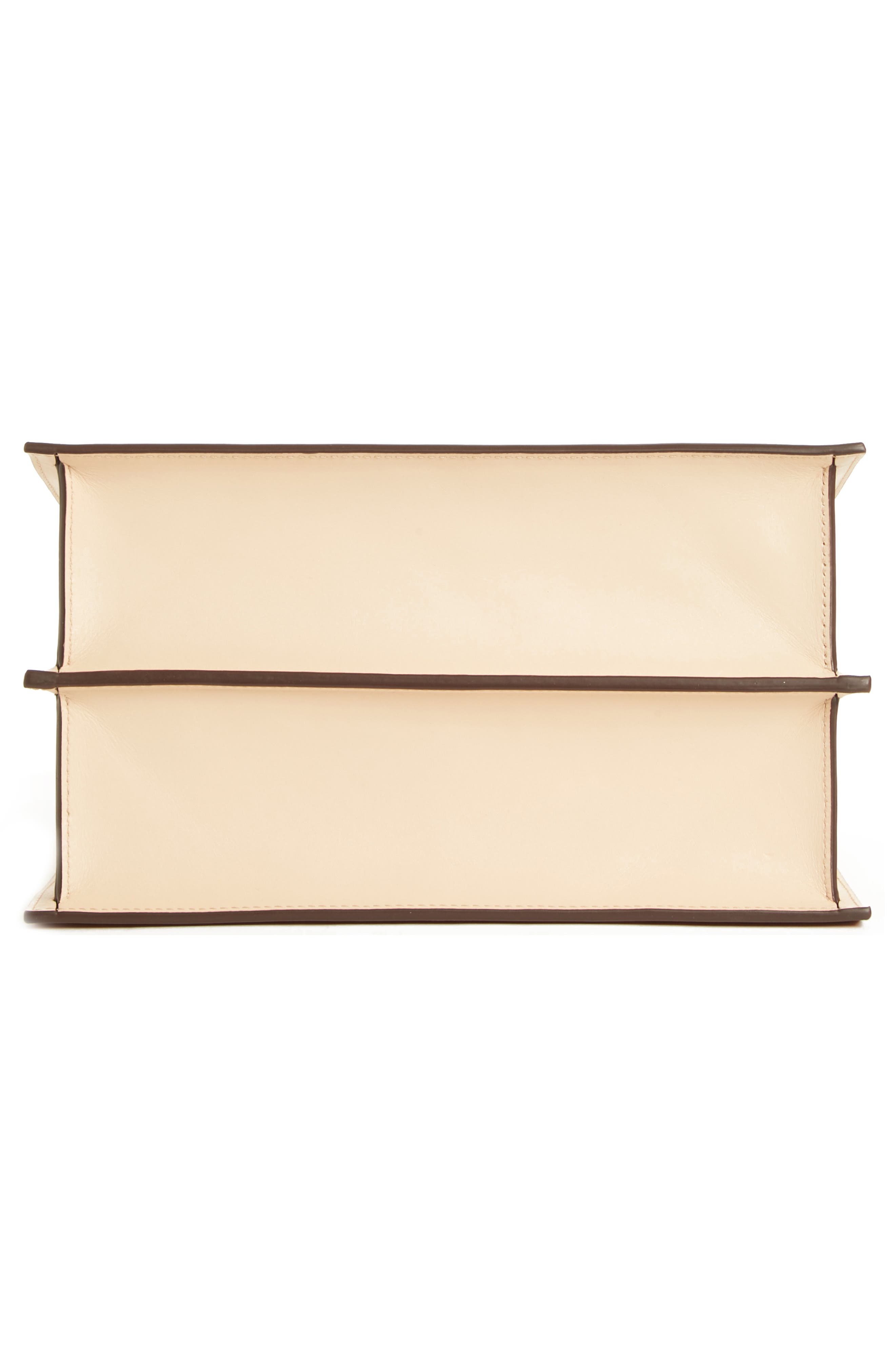 Phoebe Leather Crossbody Bag,                             Alternate thumbnail 7, color,                             SAND/ AMBER