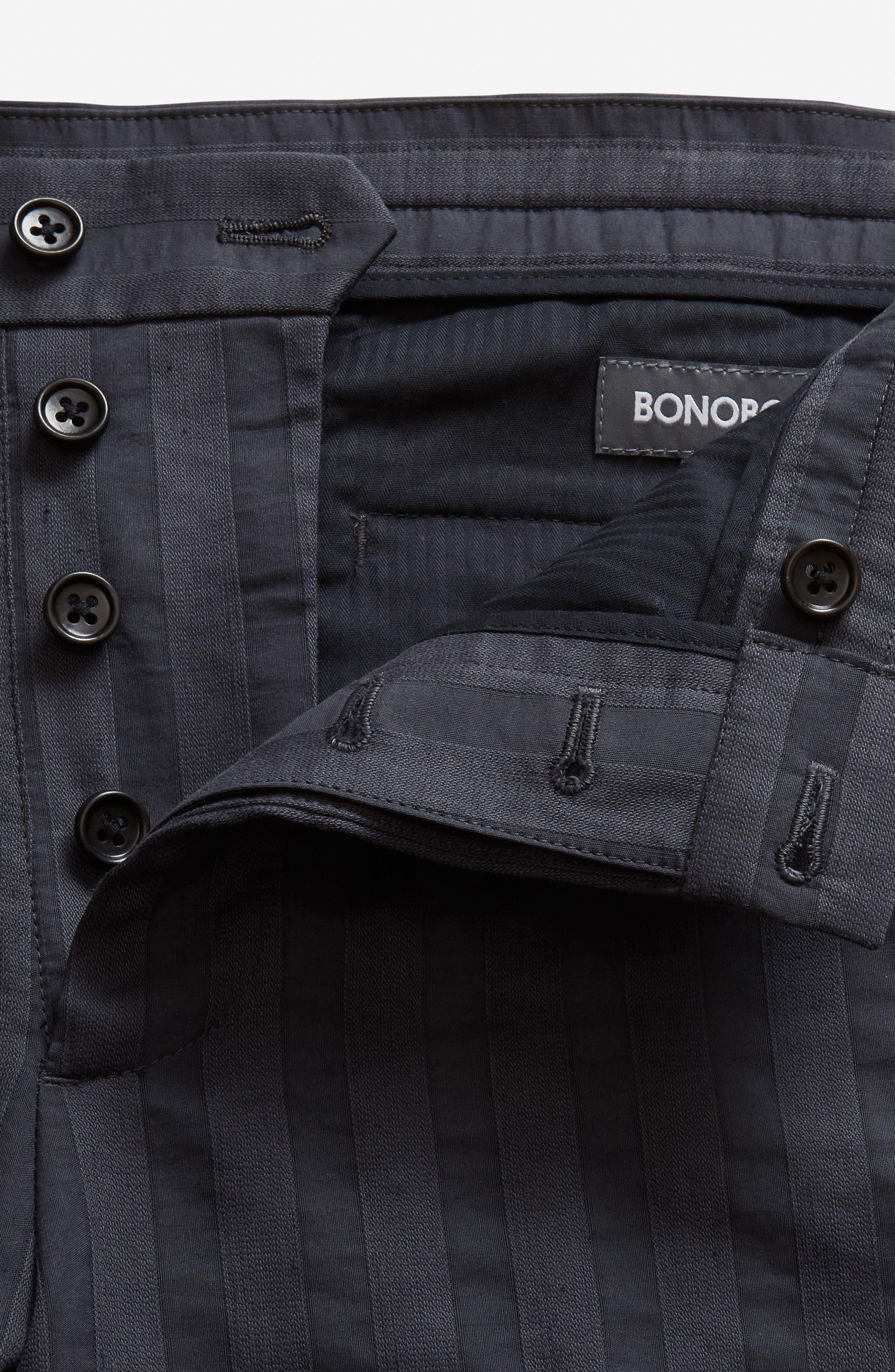 Flat Front Cotton & Linen Blend Trousers,                             Alternate thumbnail 3, color,                             004