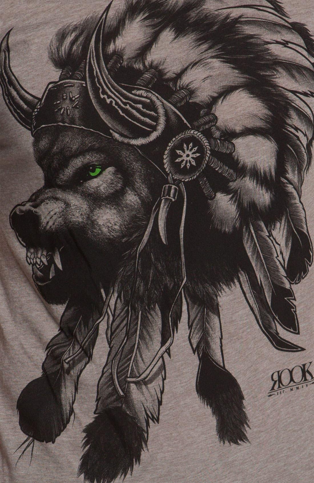 'Wolf Headdress' T-Shirt,                             Alternate thumbnail 2, color,                             250