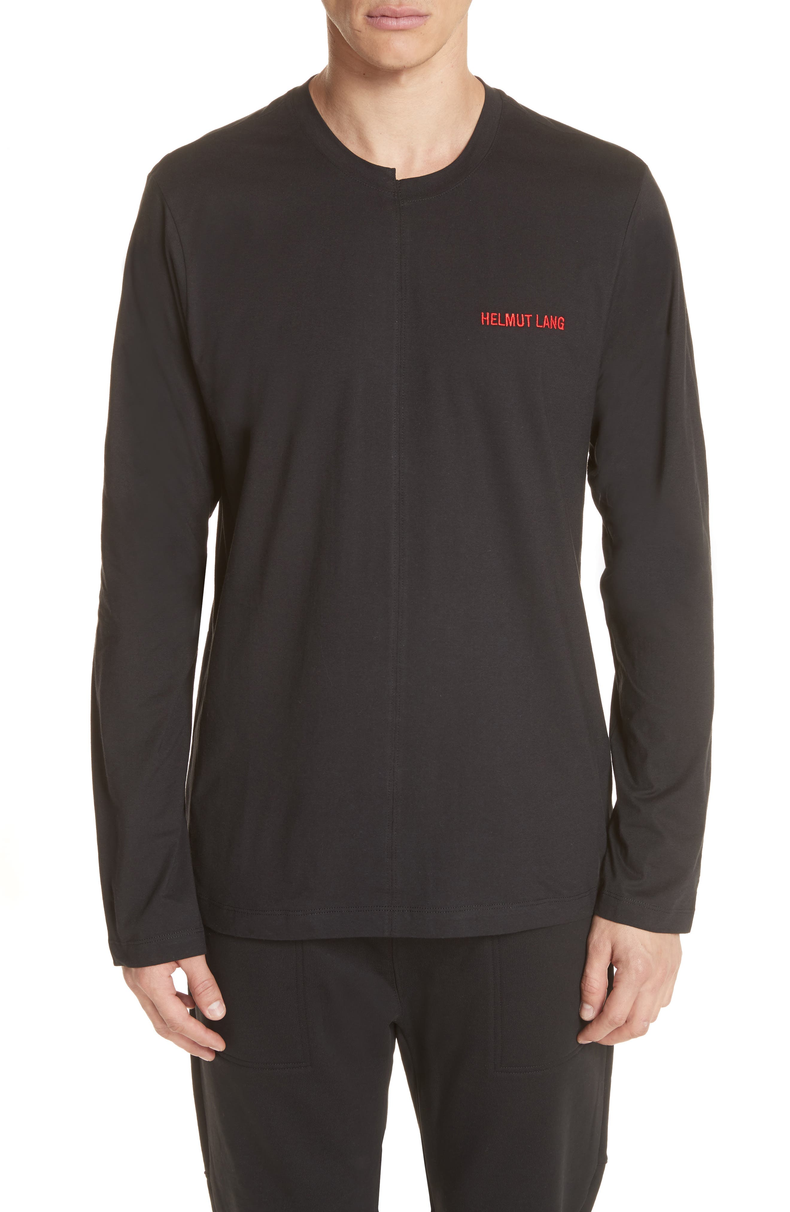 Cut Neck Long Sleeve T-Shirt,                         Main,                         color, 007