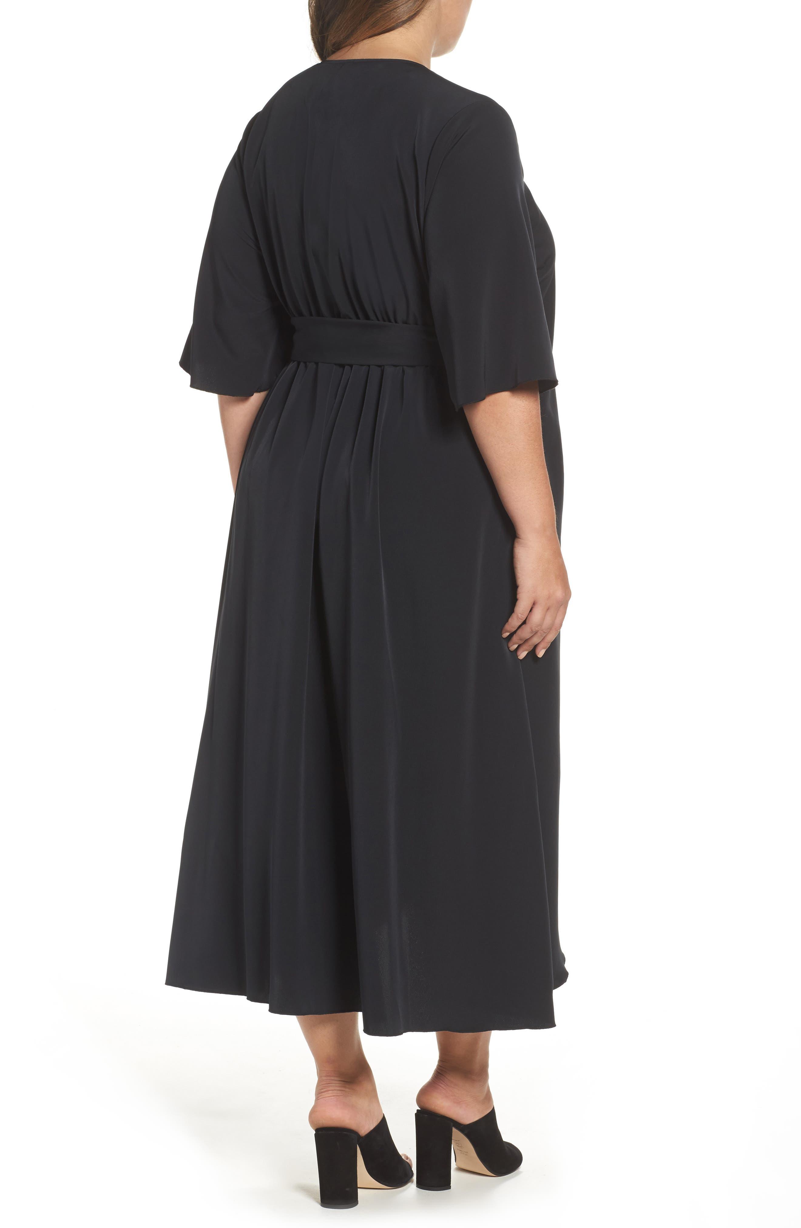 Wrap Dress,                             Alternate thumbnail 2, color,                             001