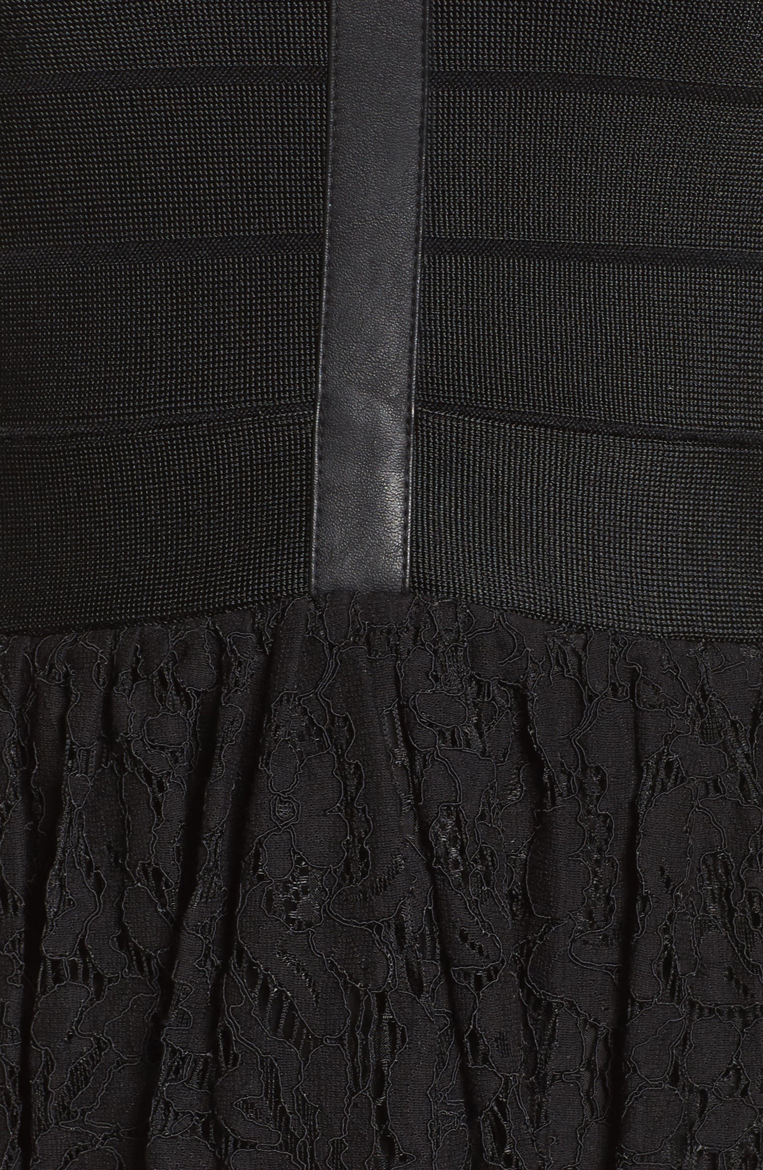Shana Spotlight Lace Dress,                             Alternate thumbnail 5, color,                             BLACK