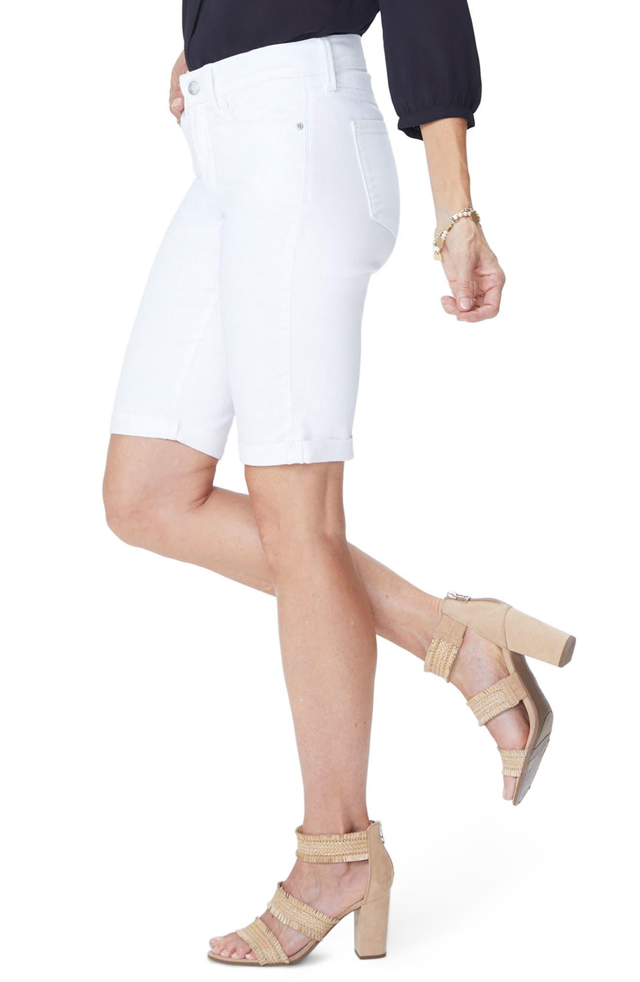 Briella Roll Cuff Bermuda Shorts,                             Alternate thumbnail 3, color,                             103