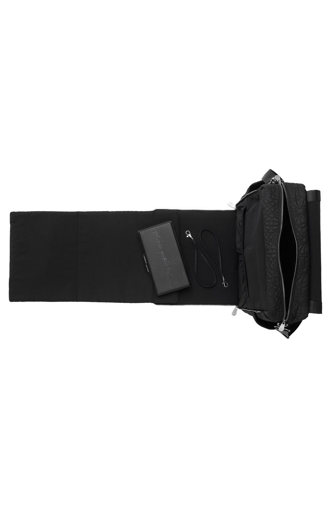 'Embossed Boxy' Backpack Diaper Bag,                             Alternate thumbnail 5, color,                             002