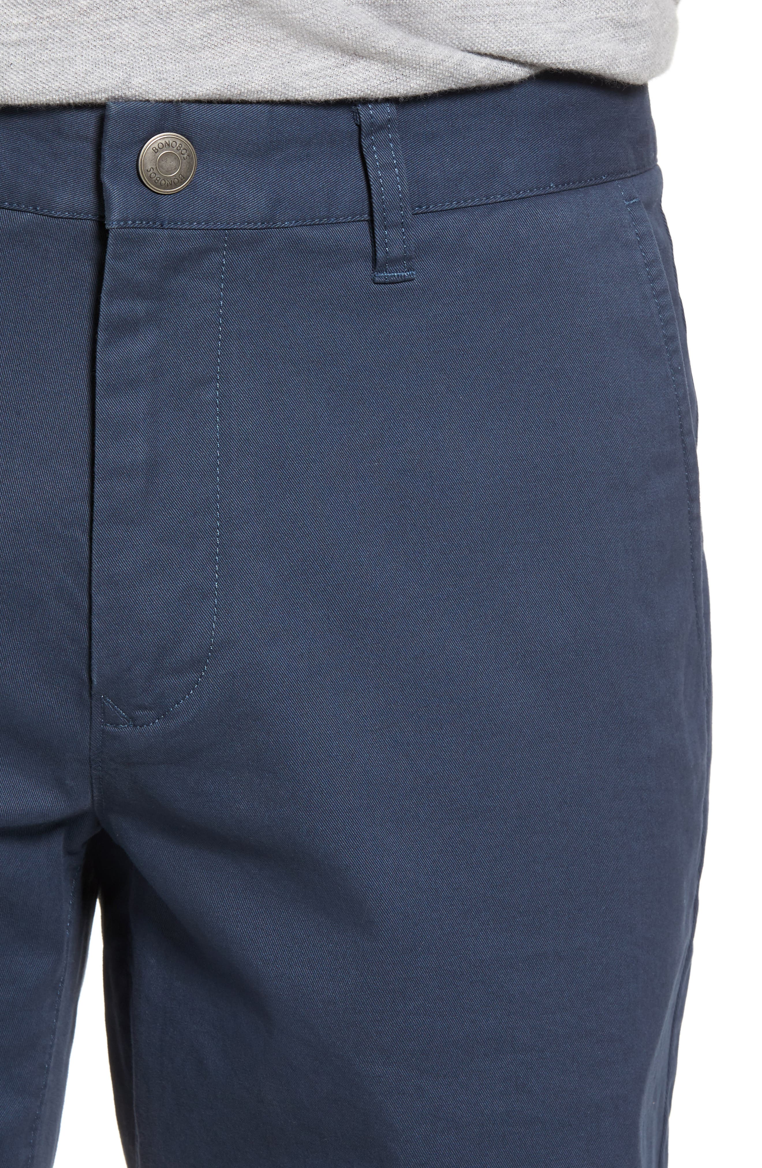 Stretch Washed Chino 7-Inch Shorts,                             Alternate thumbnail 4, color,                             STEELY