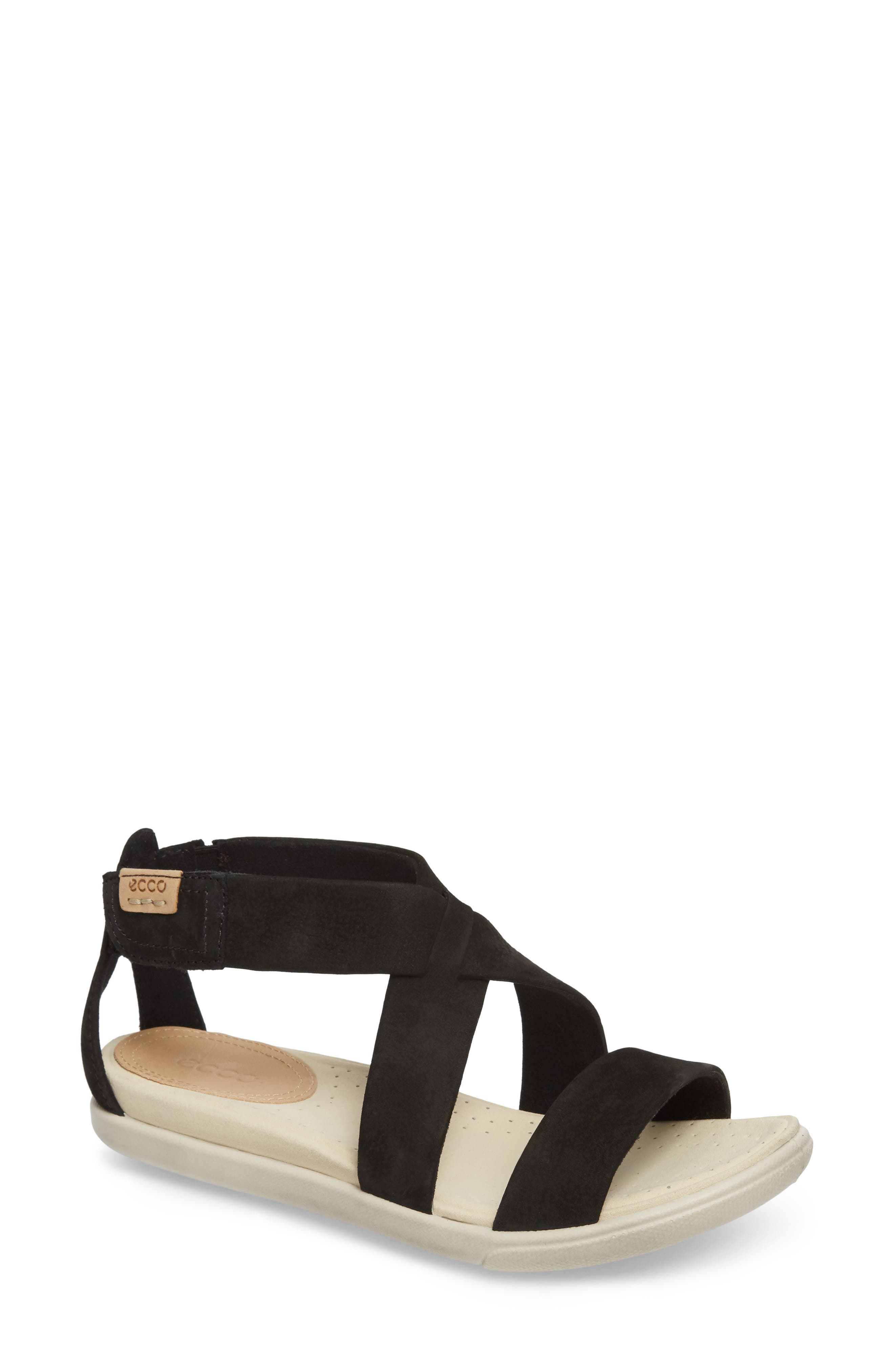 Damara Sandal,                         Main,                         color, BLACK