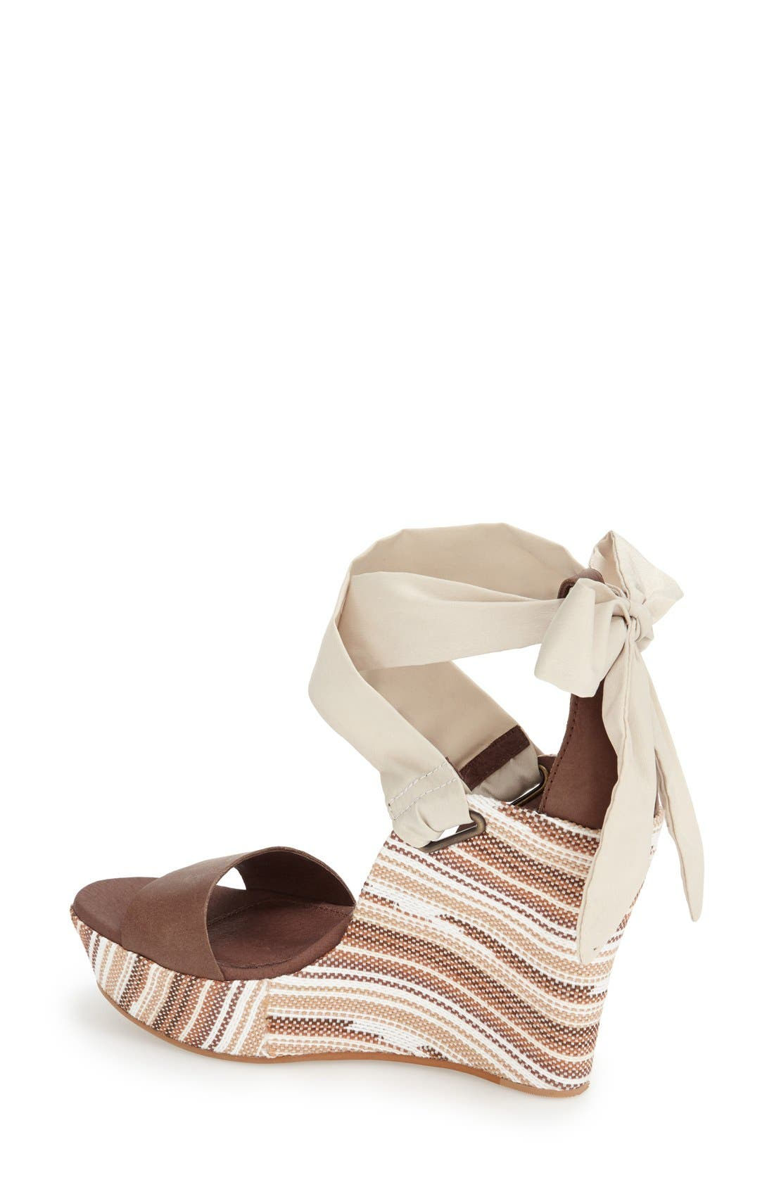 UGG<SUP>®</SUP>,                             'Jules Serape' Platform Wedge Sandal,                             Alternate thumbnail 4, color,                             201