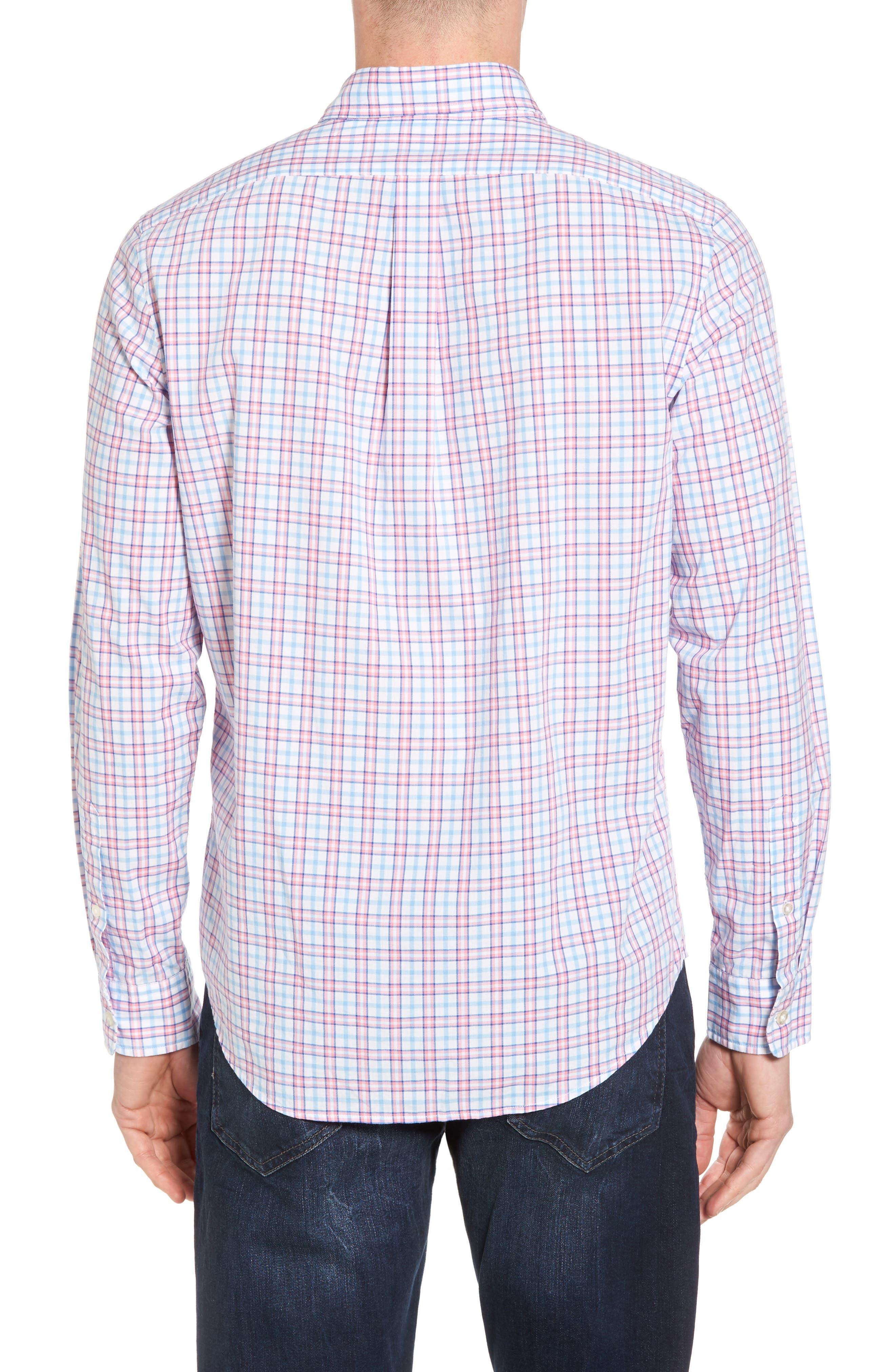 Kennard Tucker Slim Fit Plaid Sport Shirt,                             Alternate thumbnail 2, color,                             956