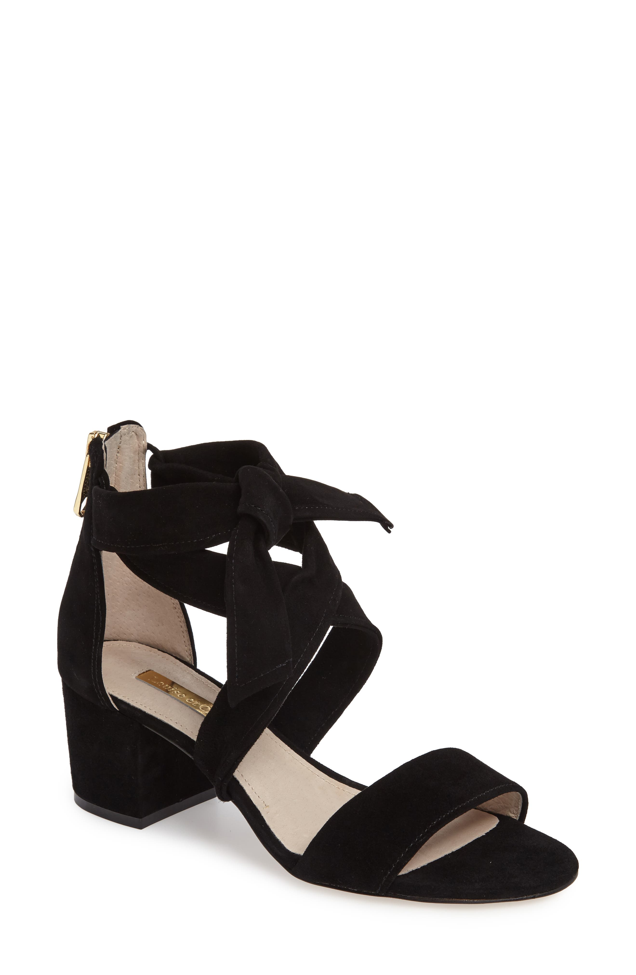 Gia Block Heel Sandal,                             Main thumbnail 1, color,                             001