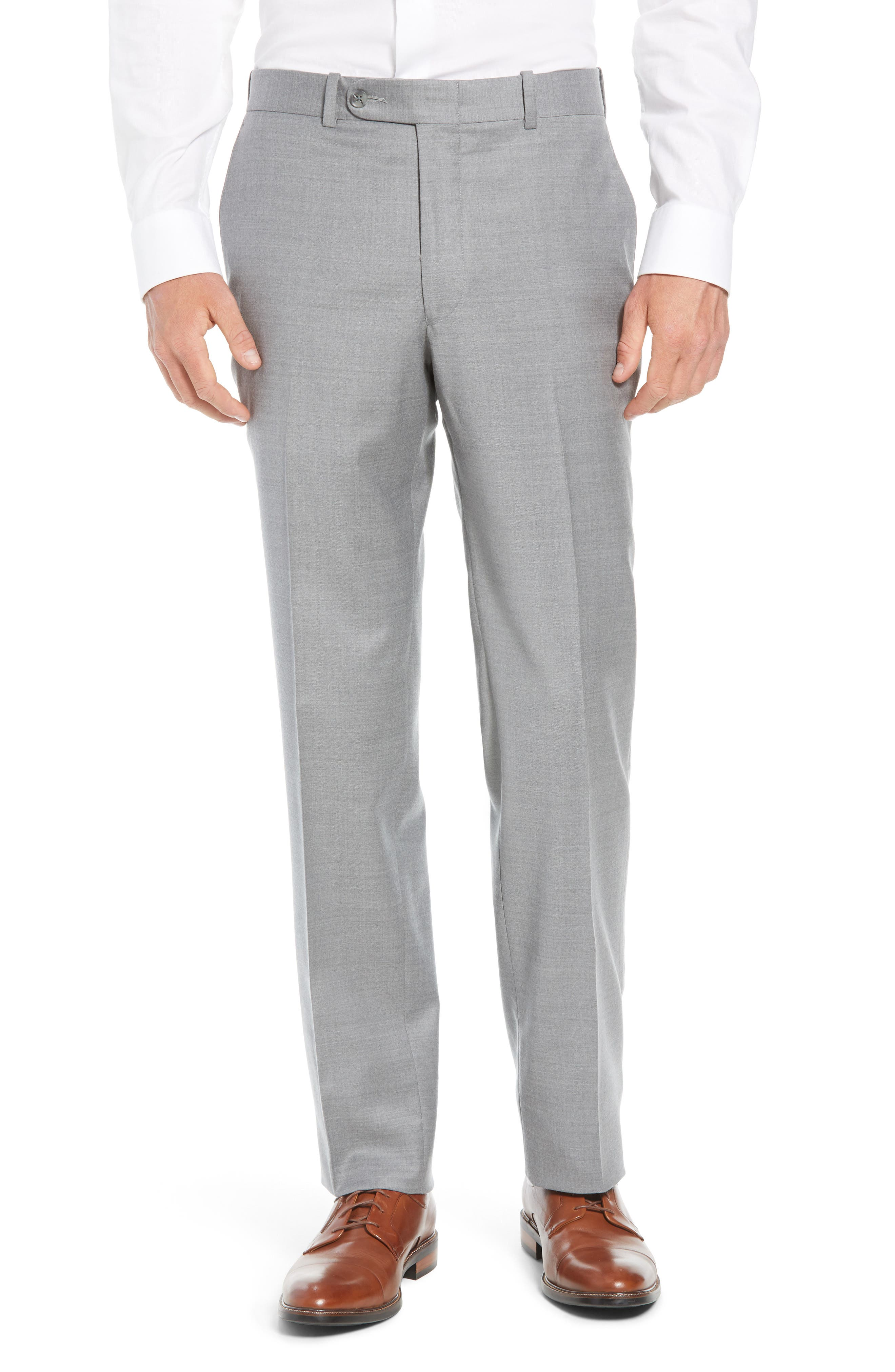 Flynn Classic Fit Solid Wool Suit,                             Alternate thumbnail 6, color,                             LIGHT GREY
