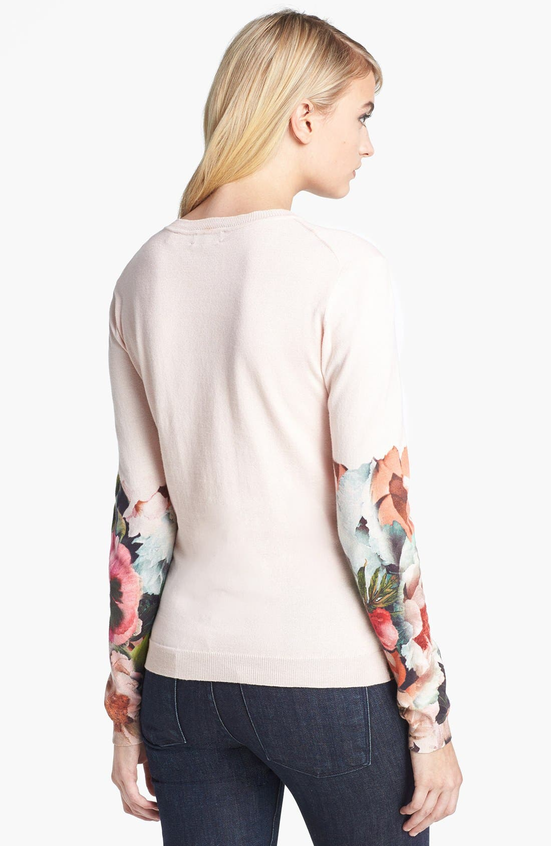 'Tangled Floral' Print Cotton Sweater,                             Alternate thumbnail 2, color,                             250