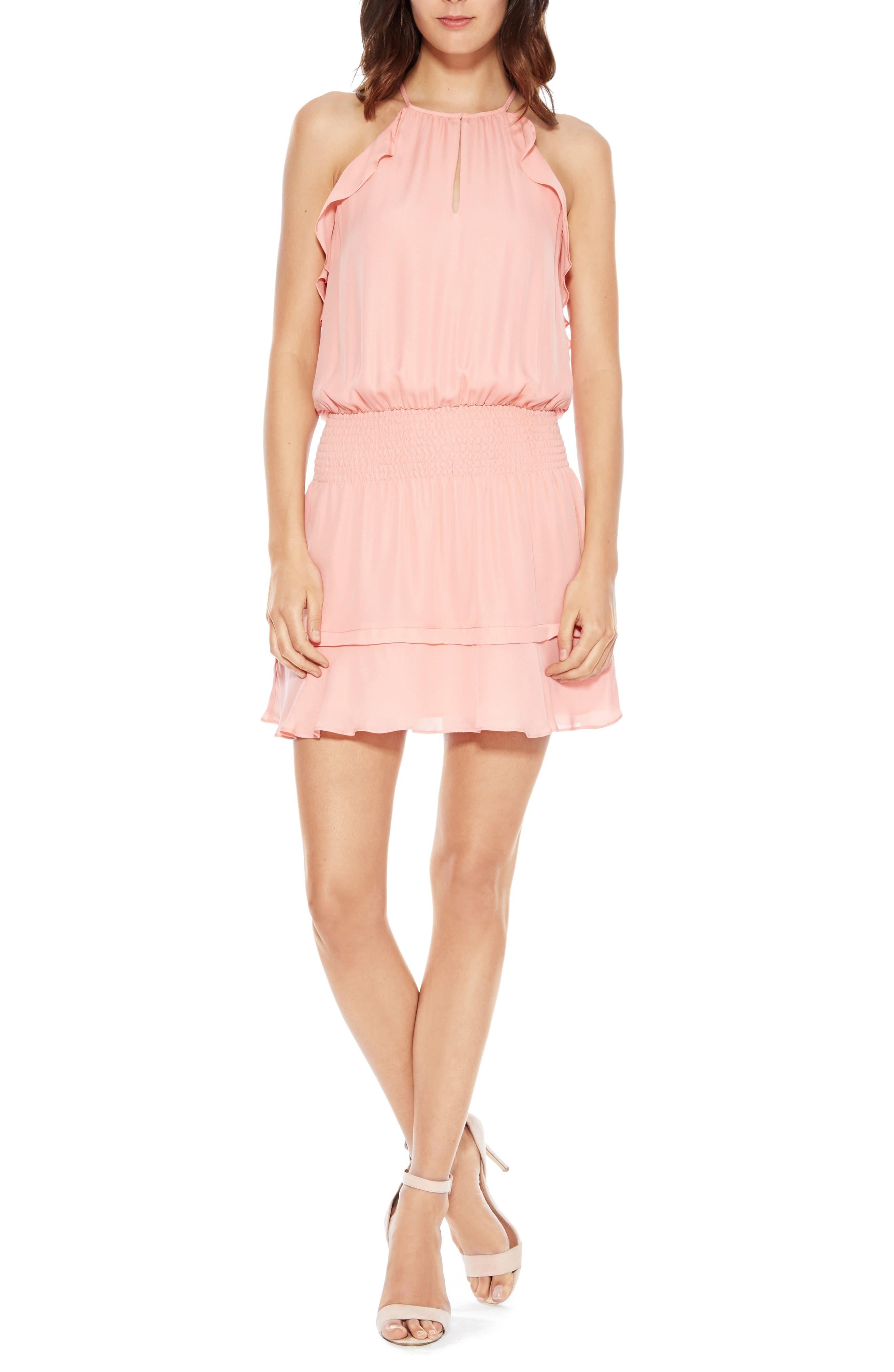 PARKER Williame Silk Dress, Main, color, 697