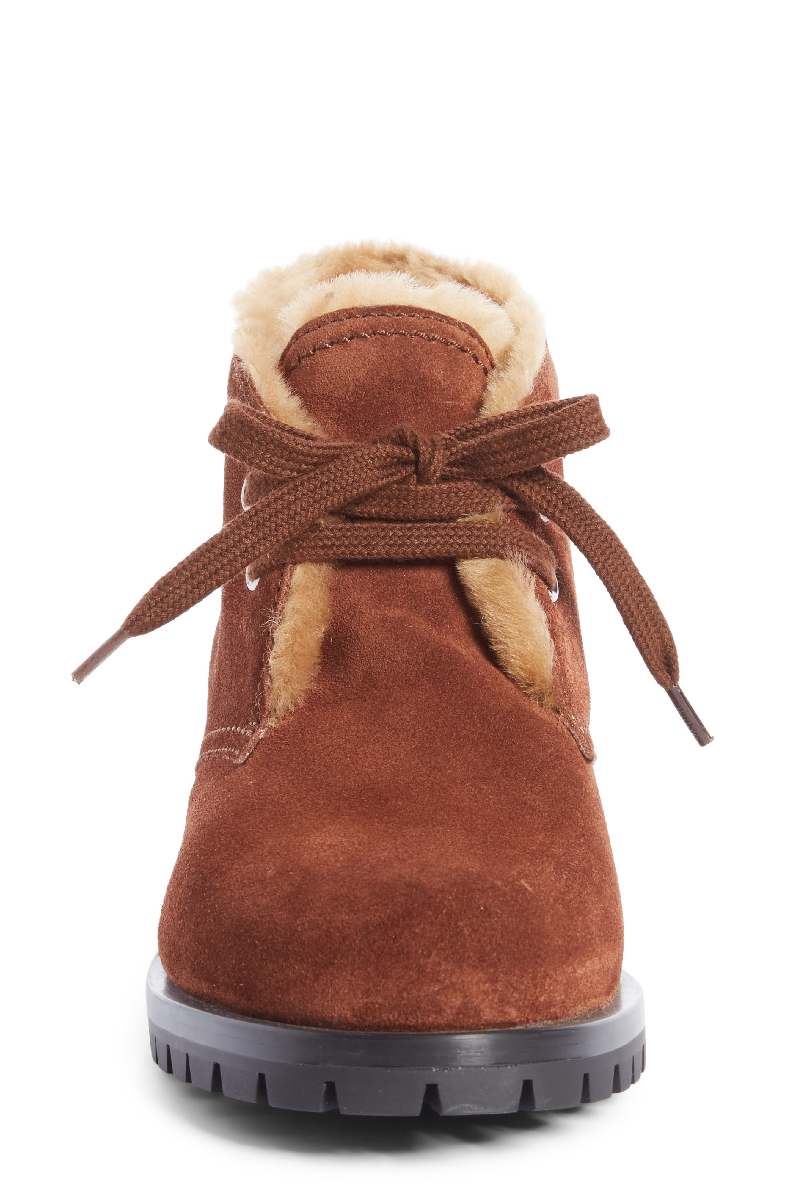 Genuine Shearling Lined Bootie,                             Alternate thumbnail 8, color,