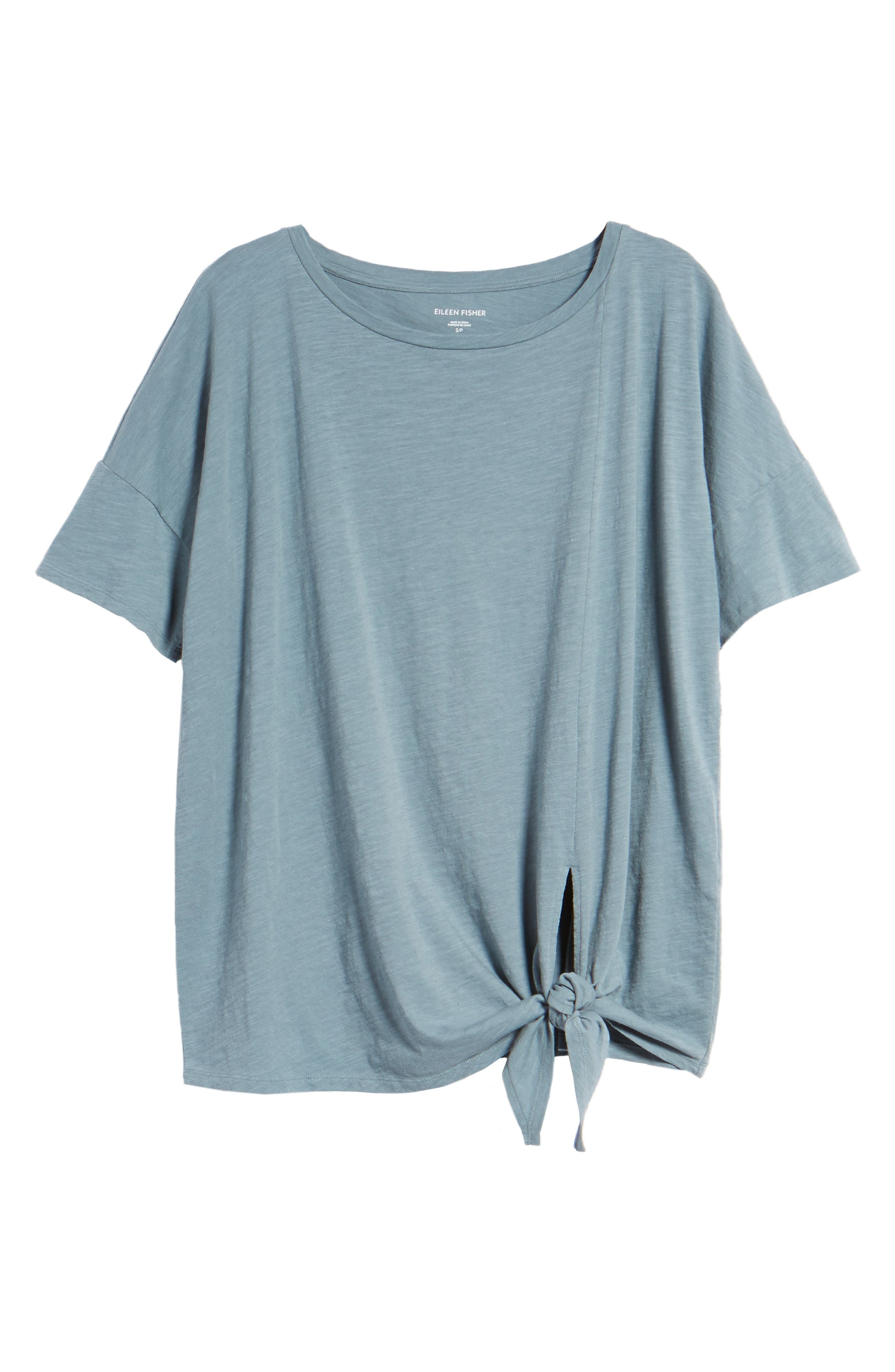 Tie Hem Organic Cotton Tee,                             Alternate thumbnail 31, color,