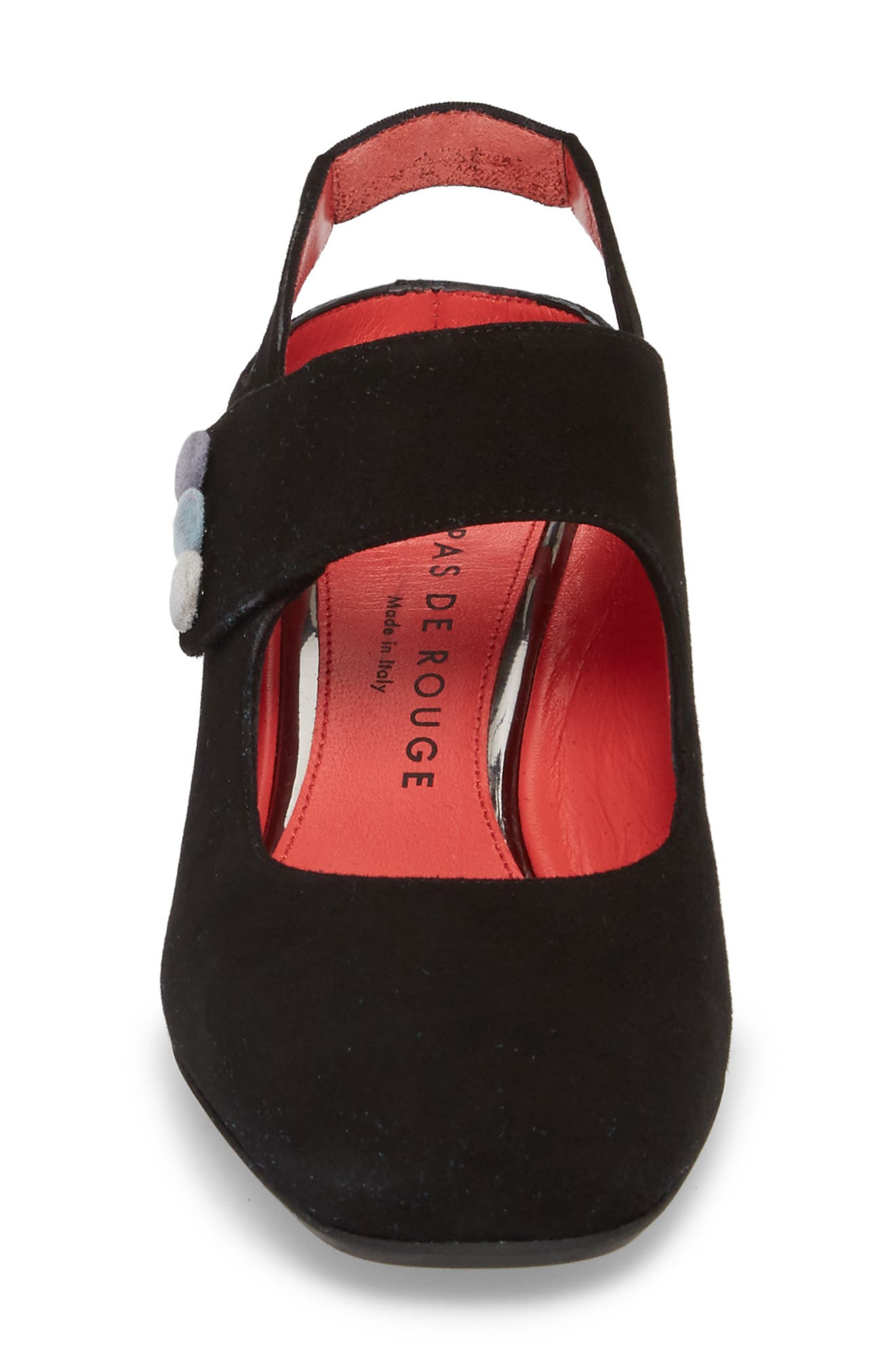Chantal Pump,                             Alternate thumbnail 4, color,                             BLACK SUEDE